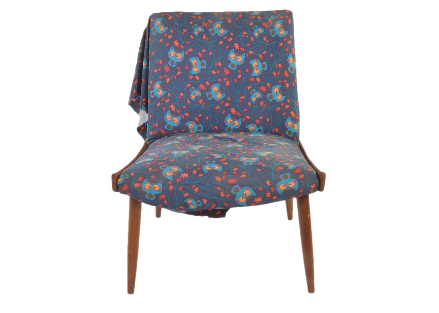 Mid Century Modern Upholstered Side Chair