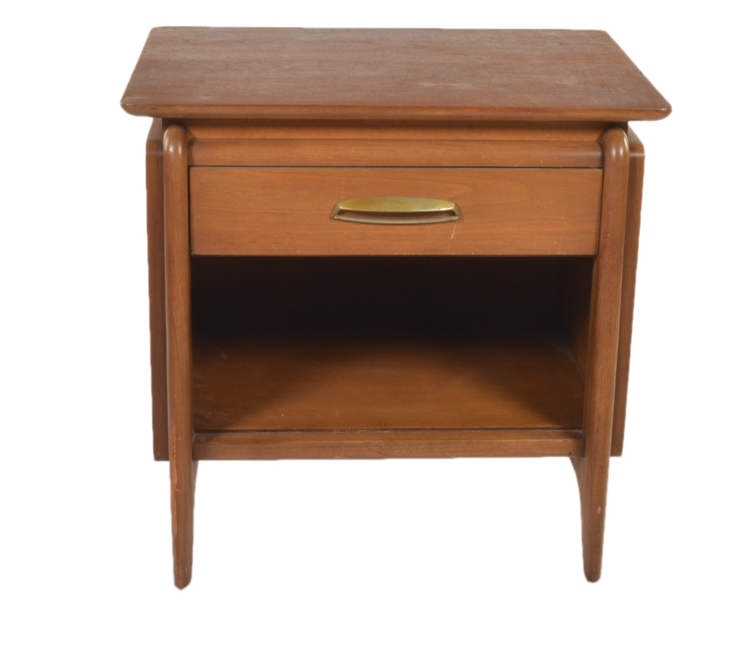 "John Van Koert Mid Century Modern ""Projection"" Walnut Nightstand by Drexel"