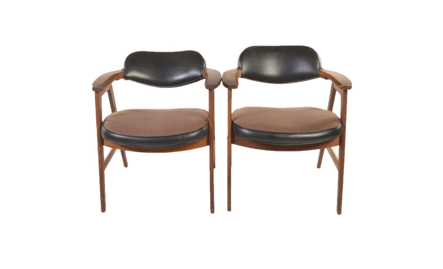 Vintage Danish Modern Upholstered Armchairs by Eck-Adams Corp.