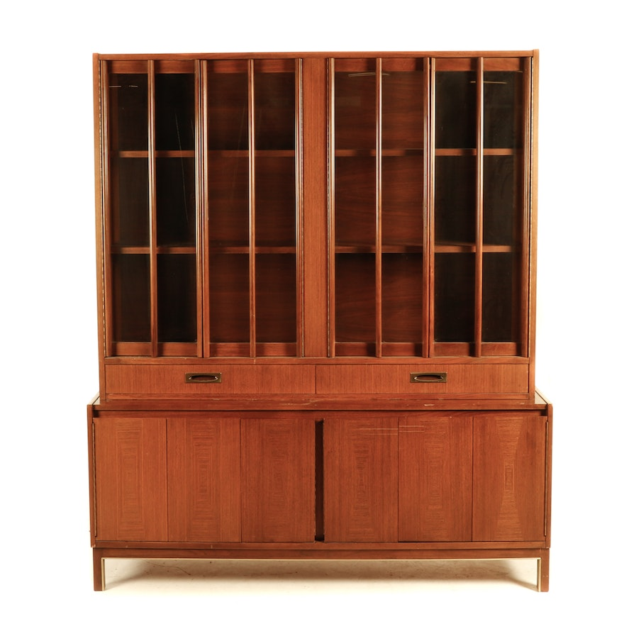 Walnut China Cabinet By American Of Martinsville
