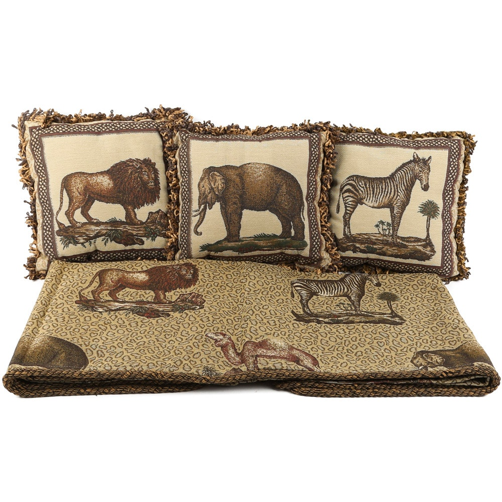 Austin Horn Table Square and Riverdale Accent Pillows