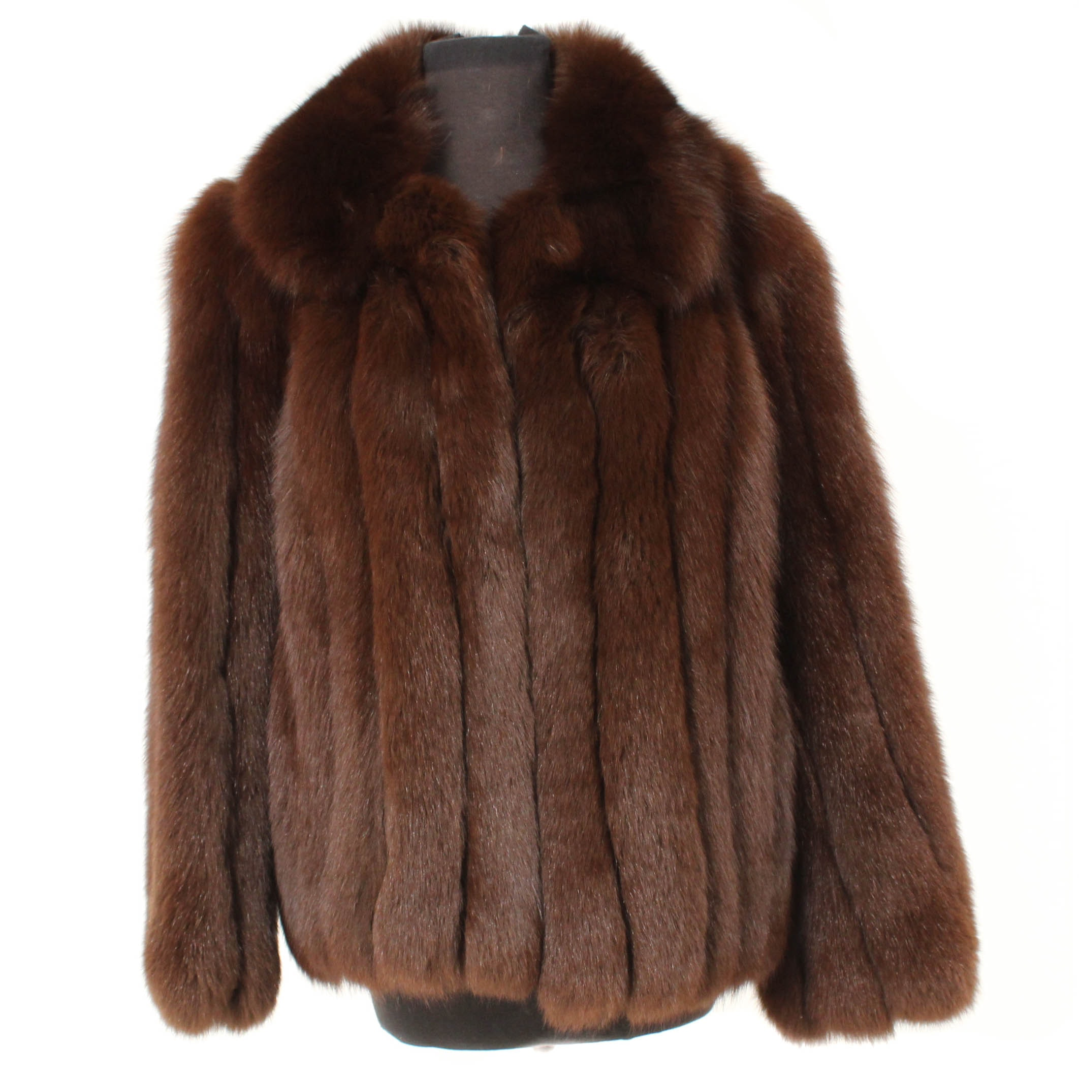 J. Percy for Marvin Richards Dyed Brown Fox Fur Jacket