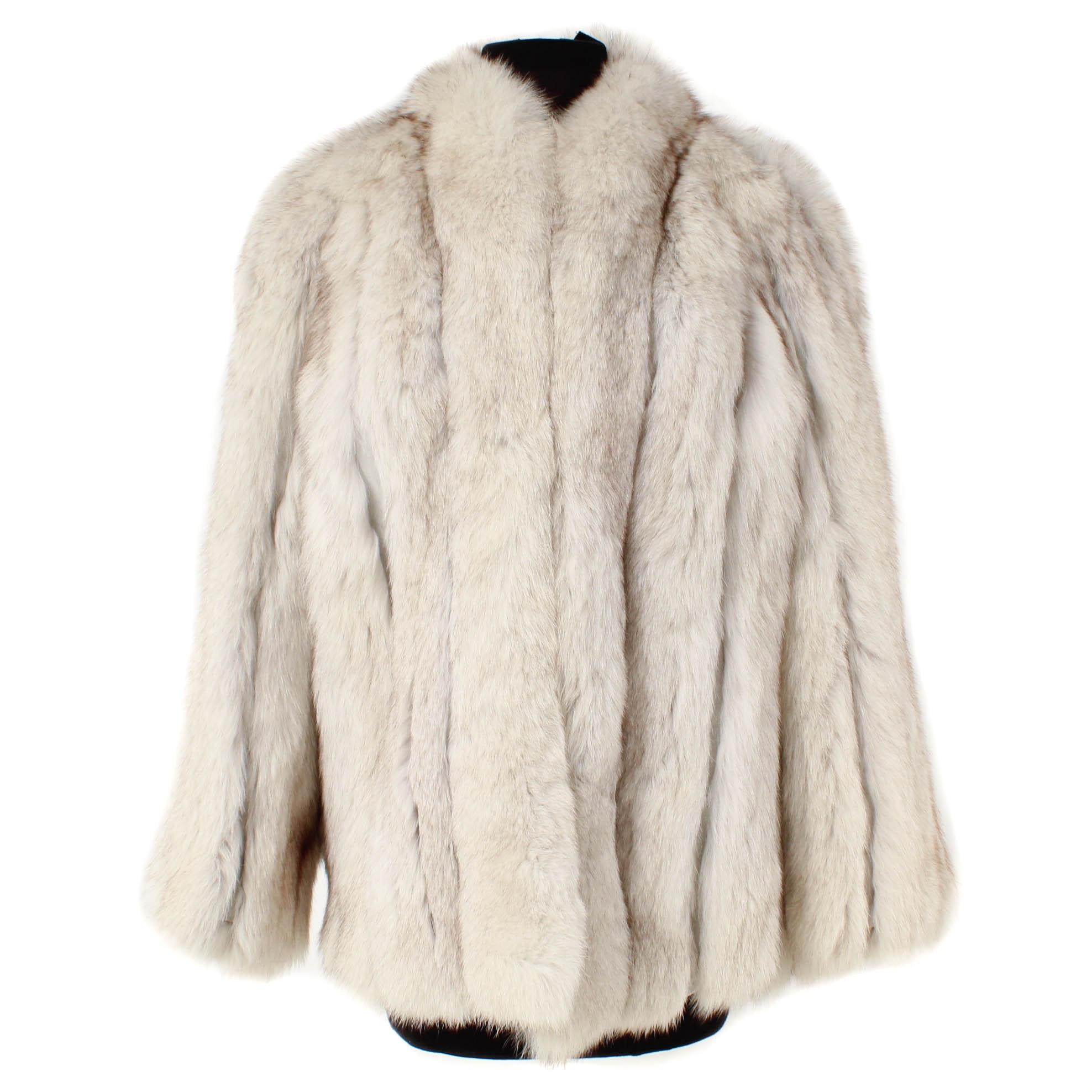 Saga Blue Fox Fur Jacket