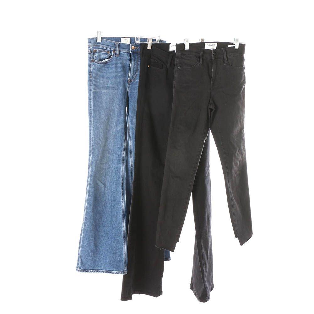 Women's Frame and J.Crew Denim Jeans