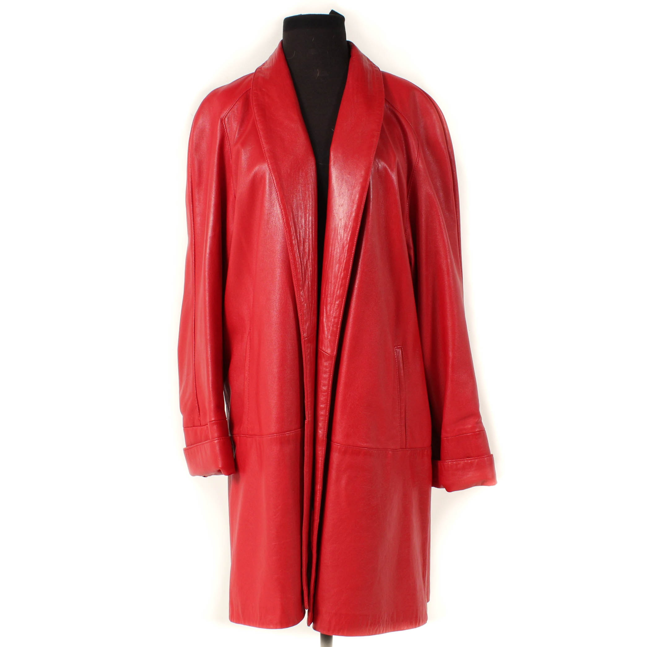 Maxima for Saks Fifth Avenue Red Leather Jacket