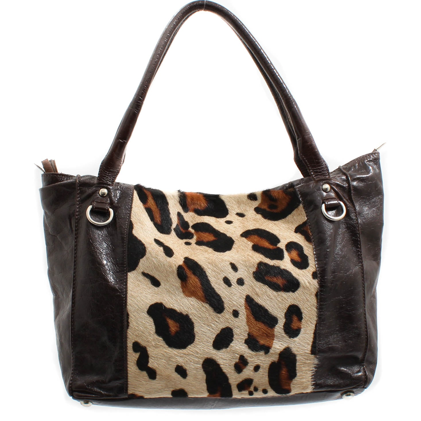 Innue Italian Leather and Calf Hair Tote