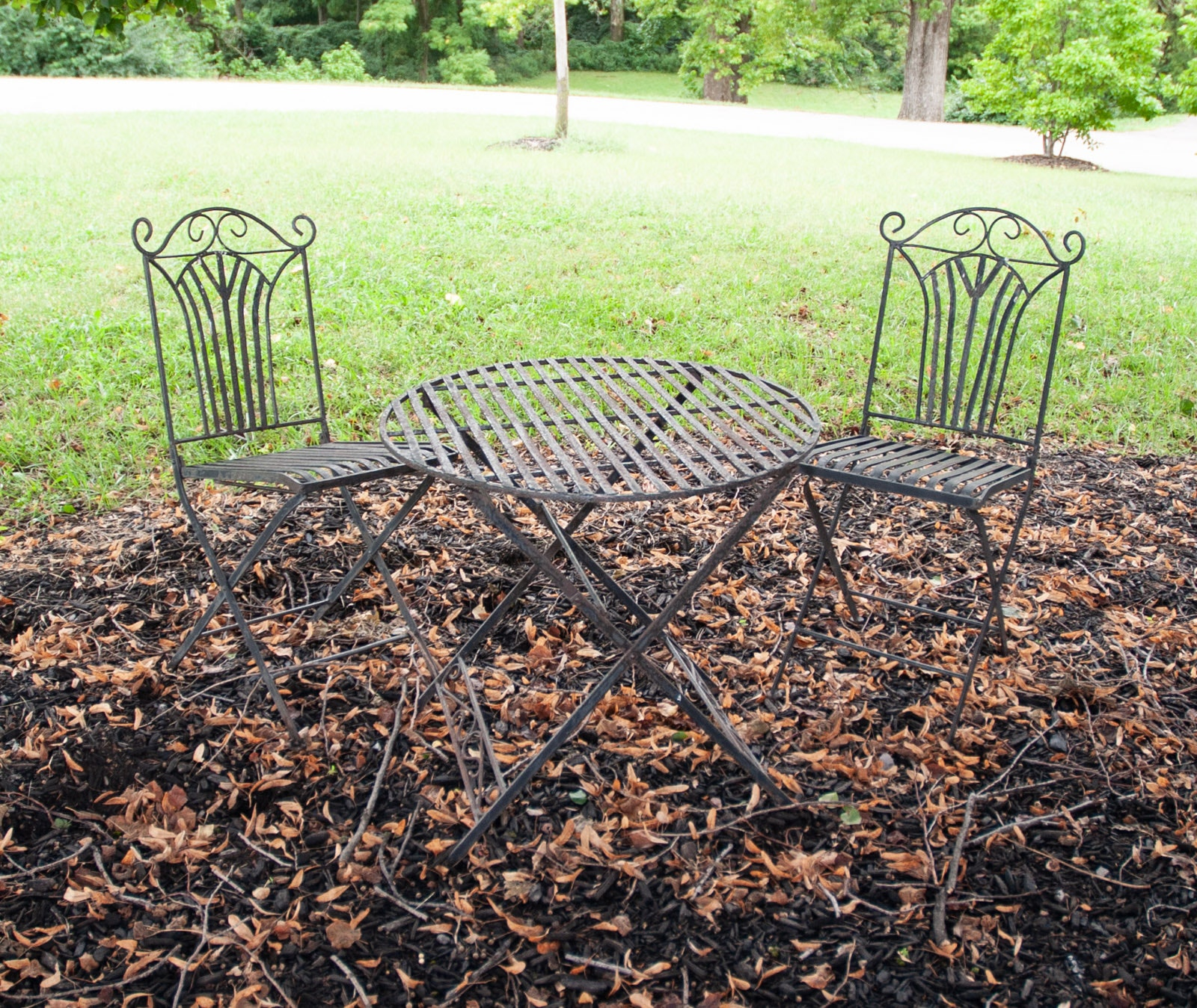 Outdoor Bistro Style Table and Chair Set