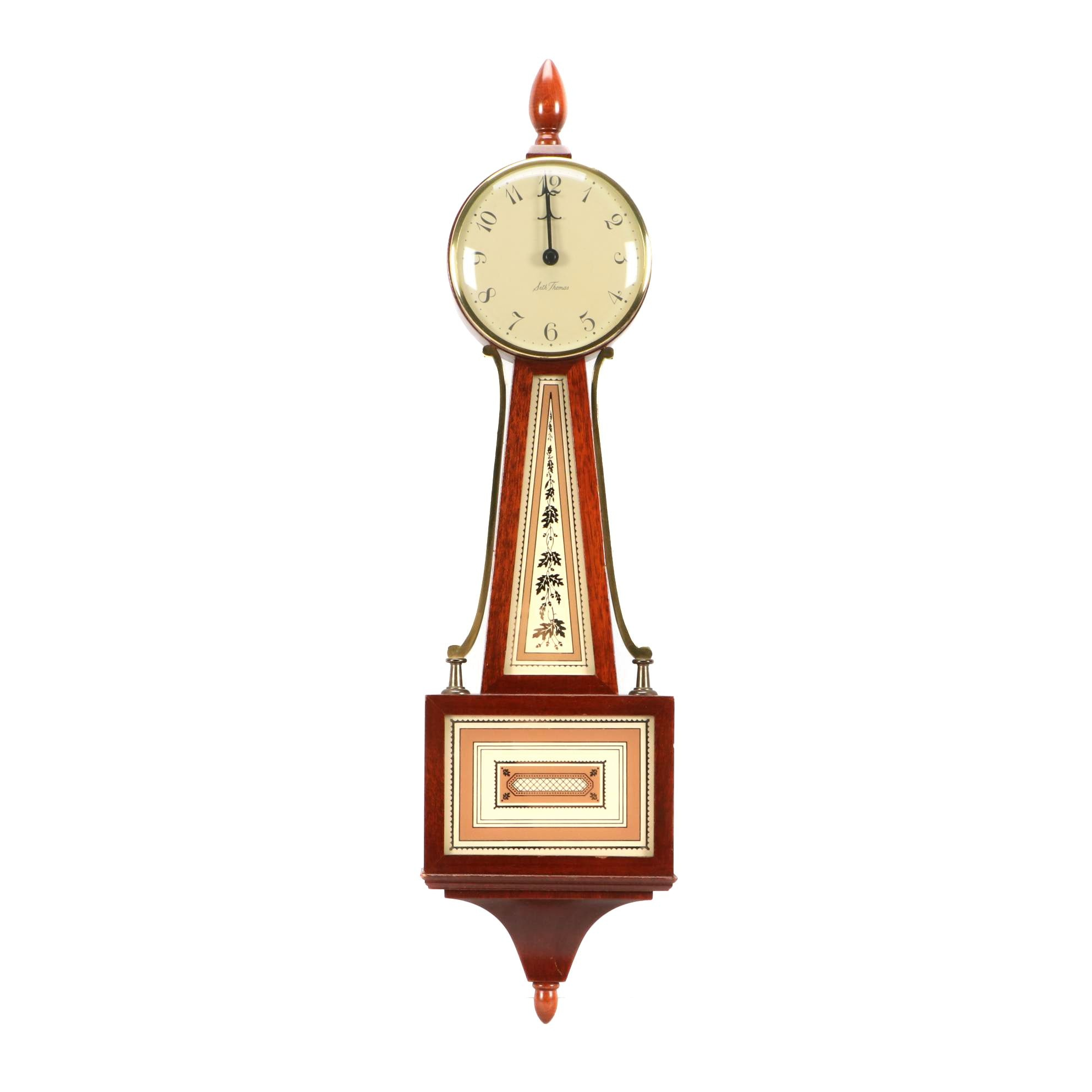Vintage Banjo Clock by Seth Thomas
