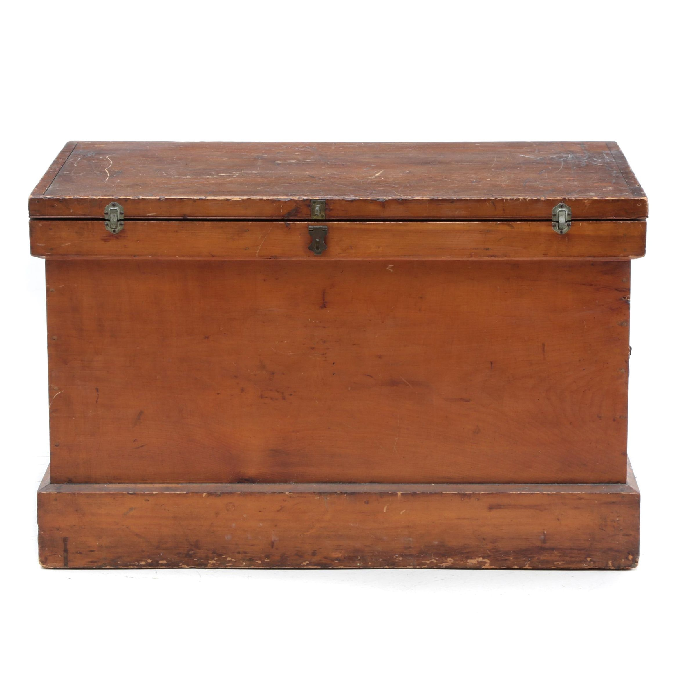 Vintage Cedar Chest with Decorative Metal Handles