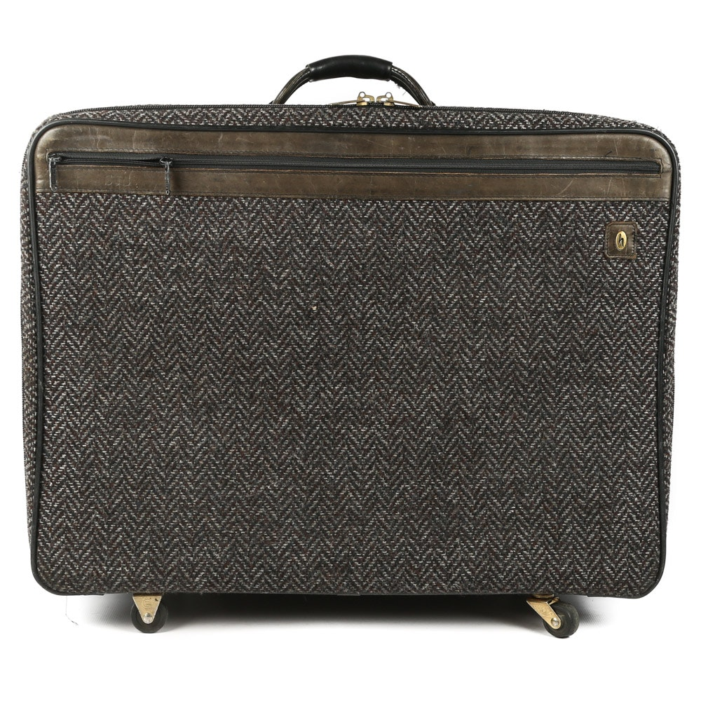 Vintage Hartmann Tweed Suitcase