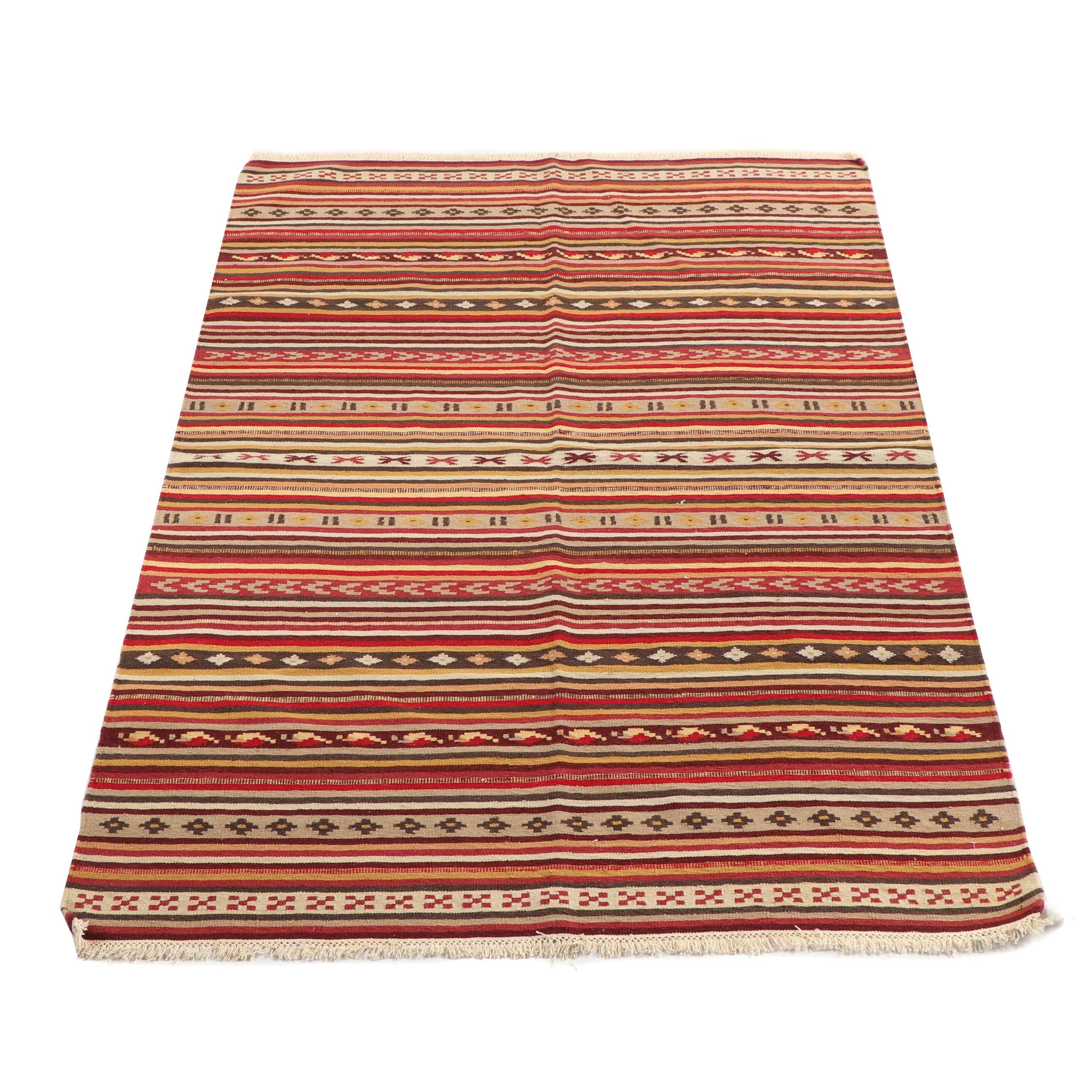 Handwoven Moroccan Wool Kilim