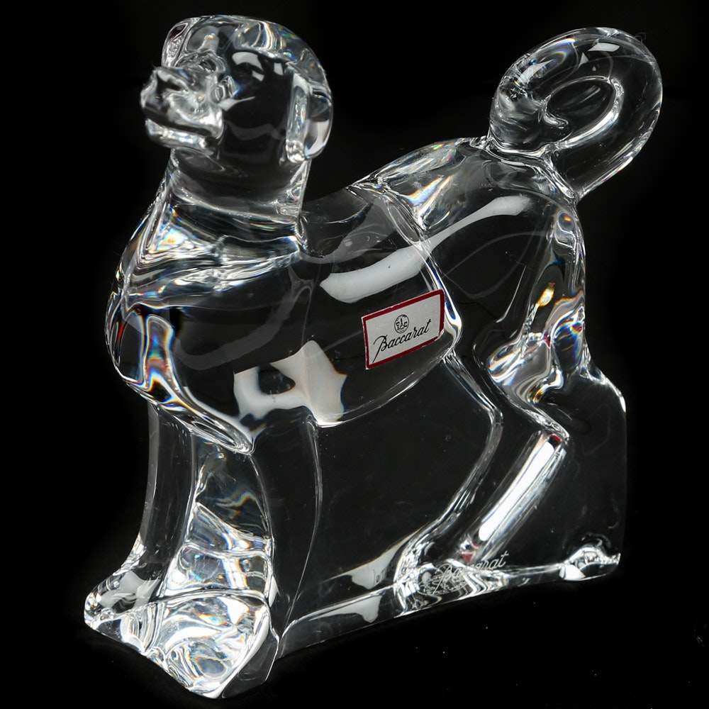 Baccarat Crystal Dog Figurine