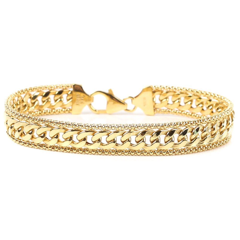 14K Yellow Gold Curb Link Bracelet