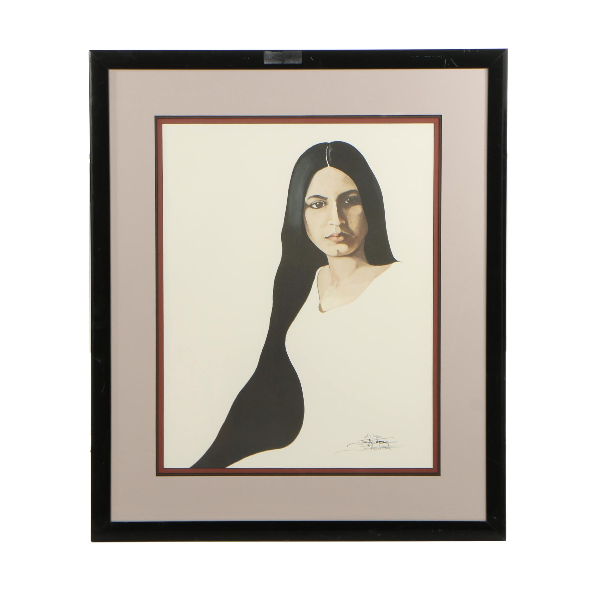 Jim Armstrong Limited Edition Offset Lithograph of Woman