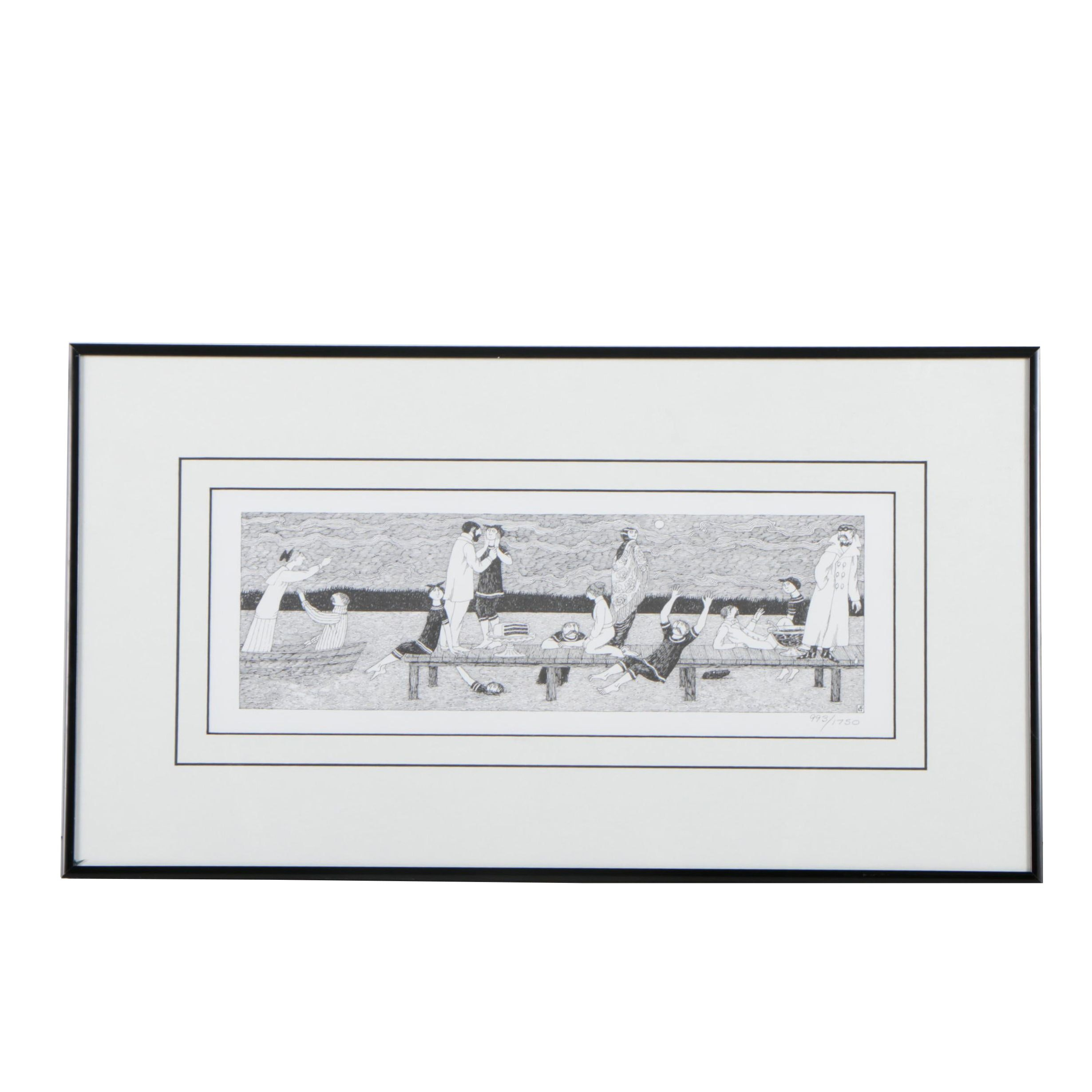 Limited Edition Lithograph after Edward Gorey