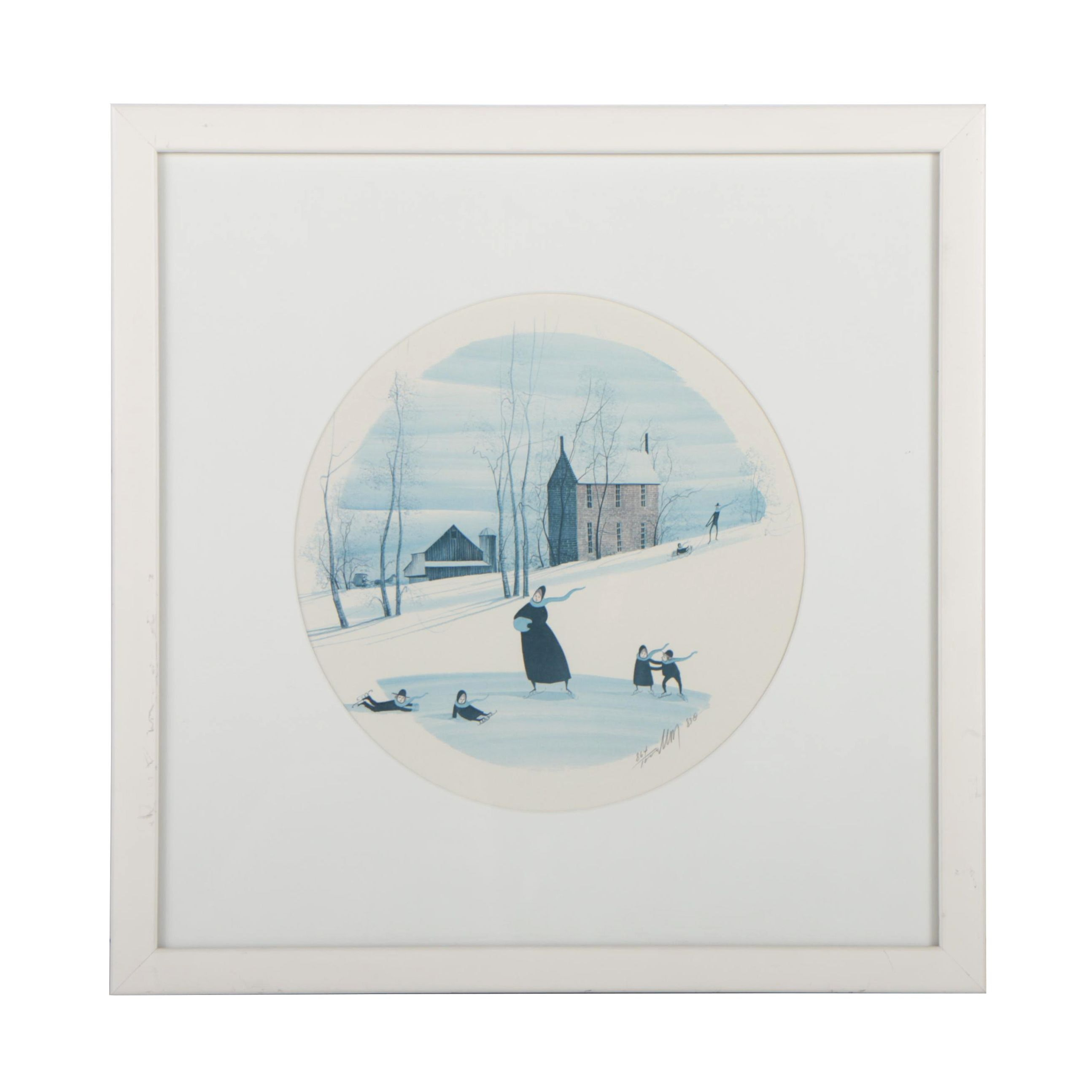 P. Buckley Moss Limited Edition Offset Lithograph
