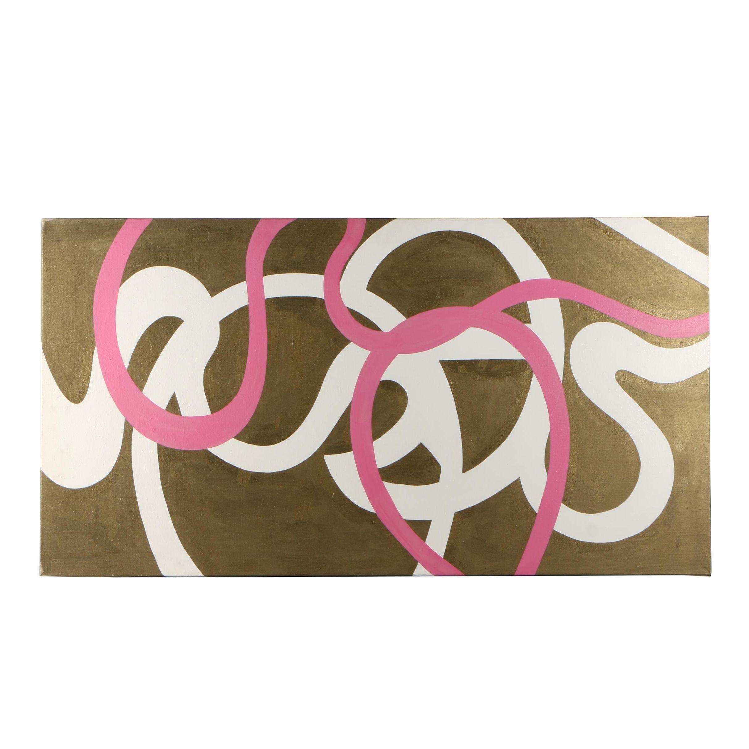 "Valerie Markwood Acrylic Painting ""He Said; She Said"""