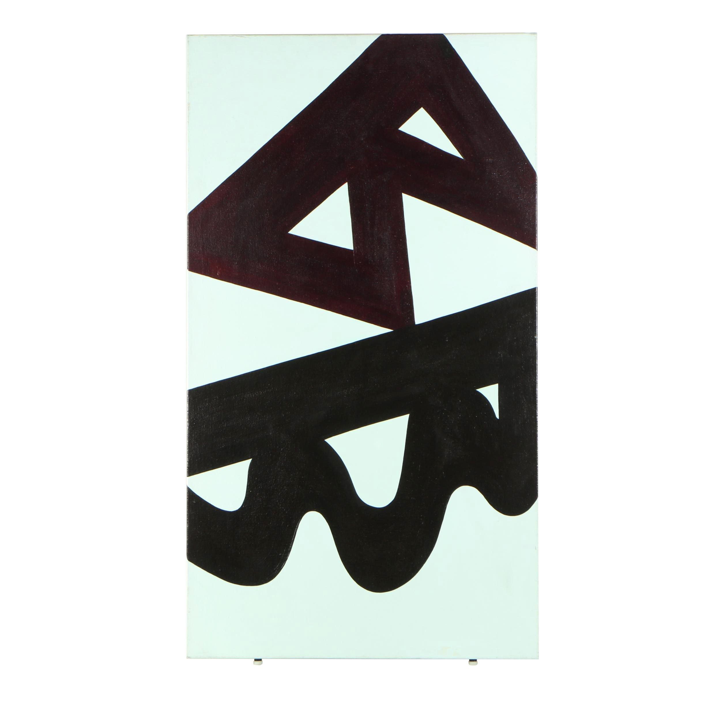 "Valerie Markwood Acrylic Painting ""Hitchhiker"""