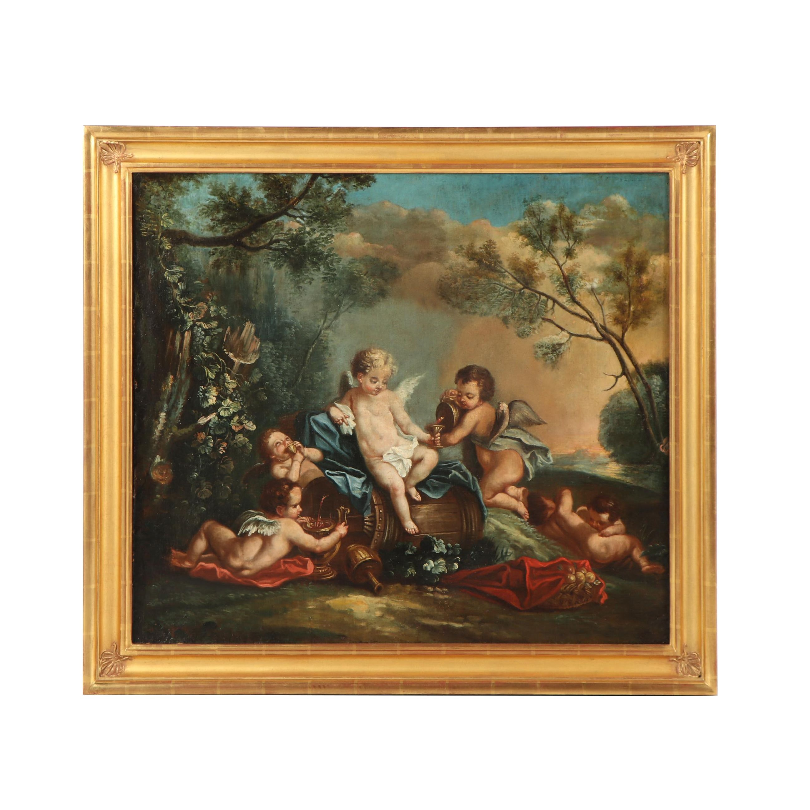 19 Century Allegorical Oil Painting