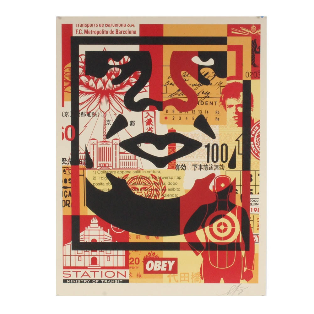 """Shepard Fairey """"Obey Face Collage"""" Print"""