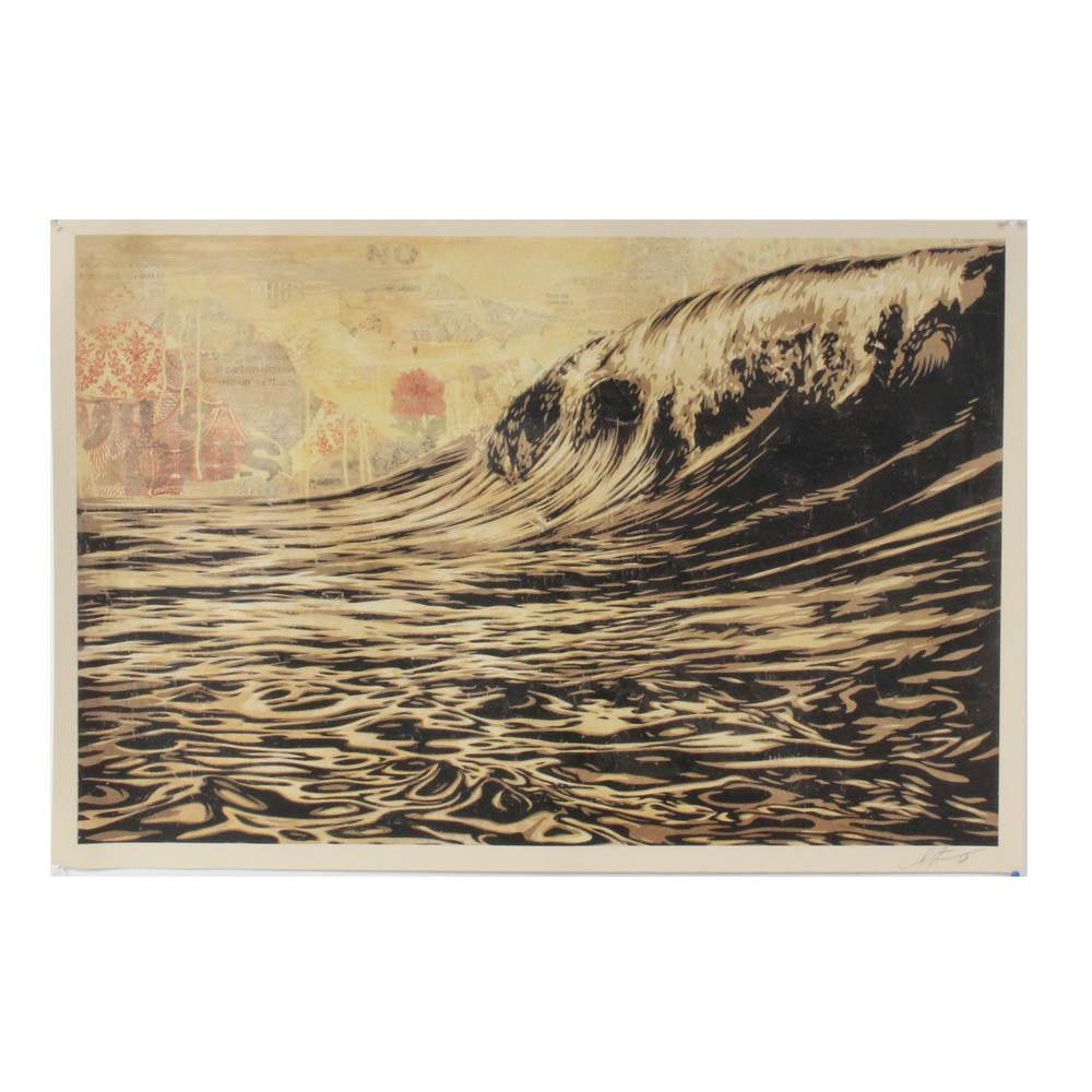 "Shepard Fairey ""Dark Wave"" Print"