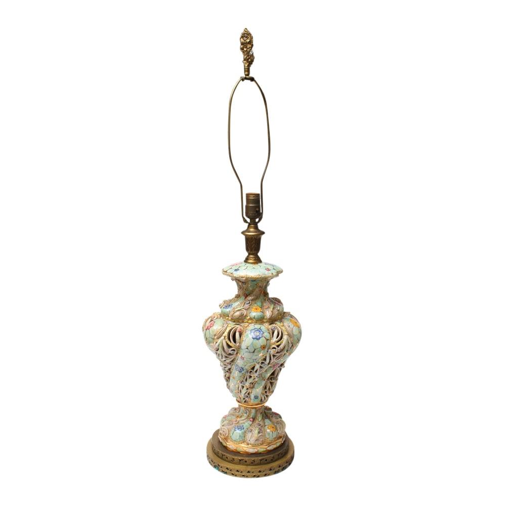 Vintage Capodimonte Style Table Lamp