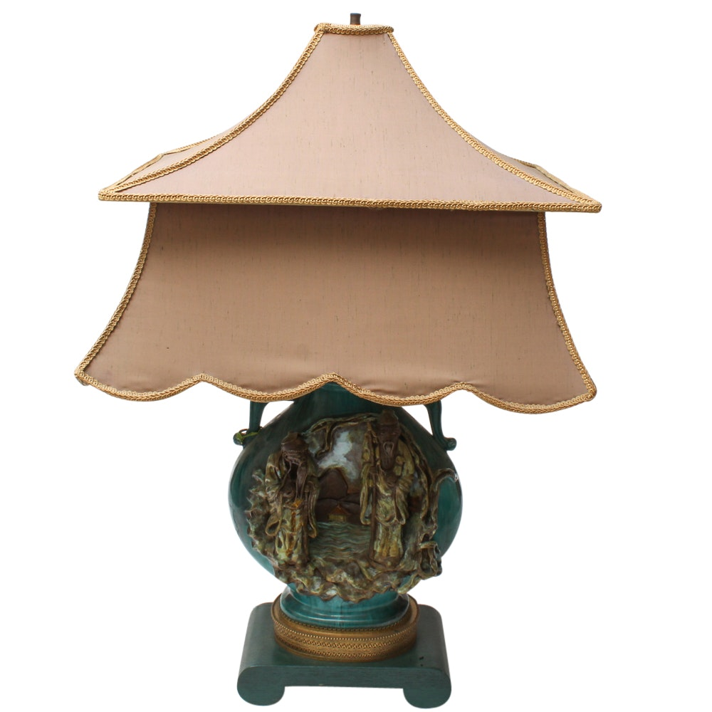 Firenze Chinoiserie Ceramic Table Lamp