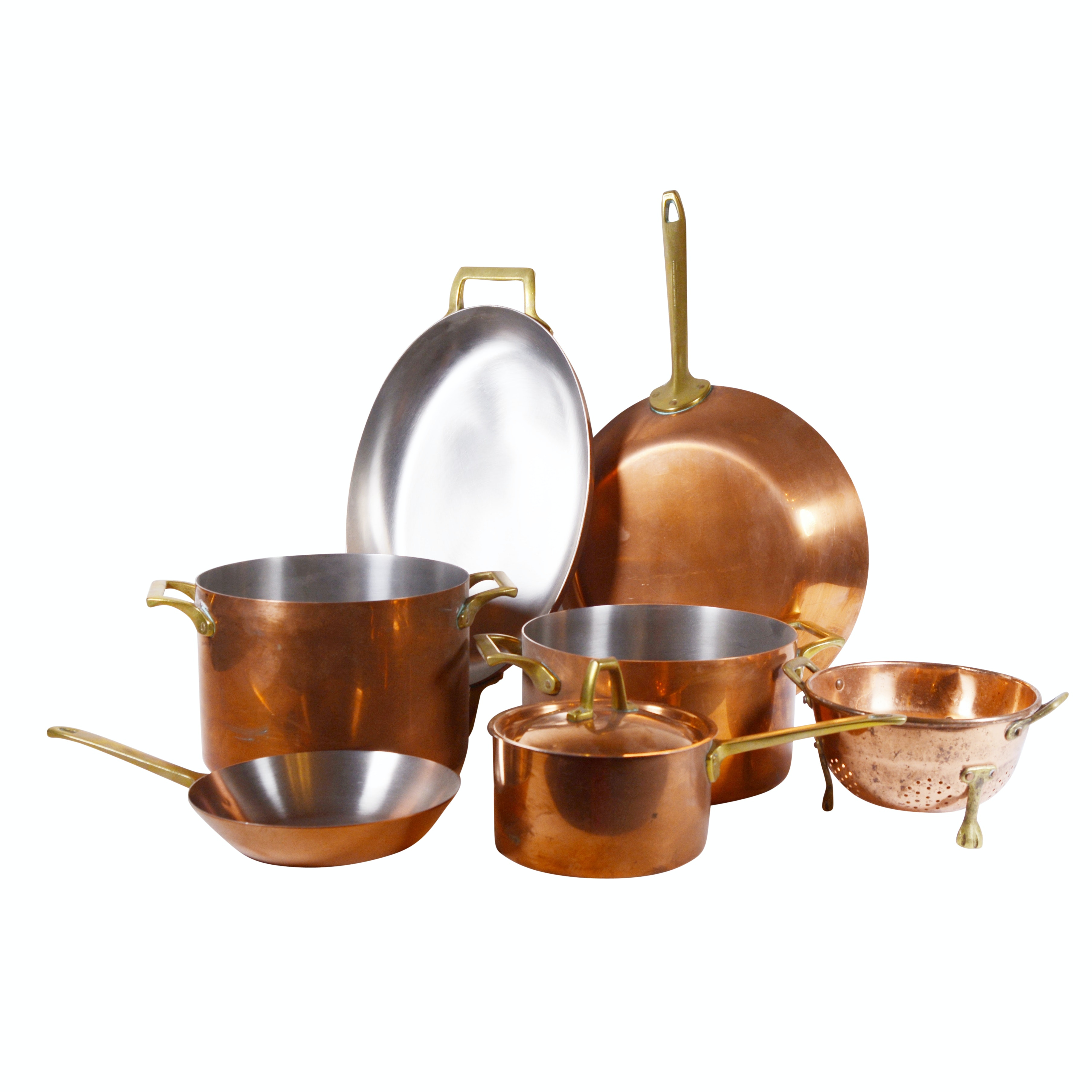 Collection of Paul Revere Limited Edition Copper and Brass Pots and Pans