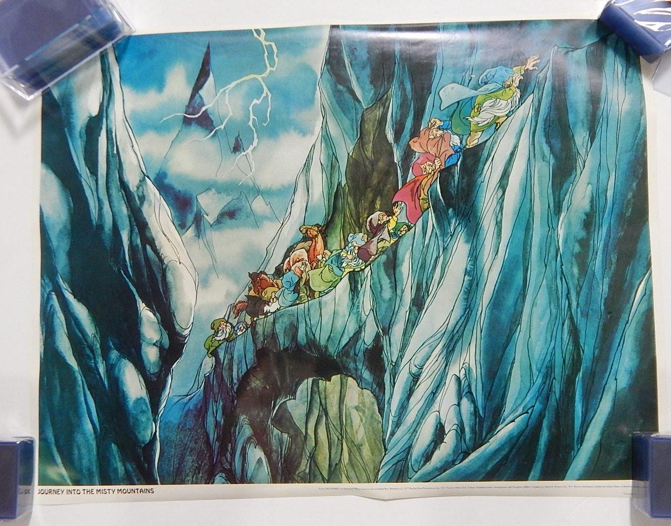 """Vintage 1977 J.R.R. Tolkien """"Hobbit"""" Posters"""