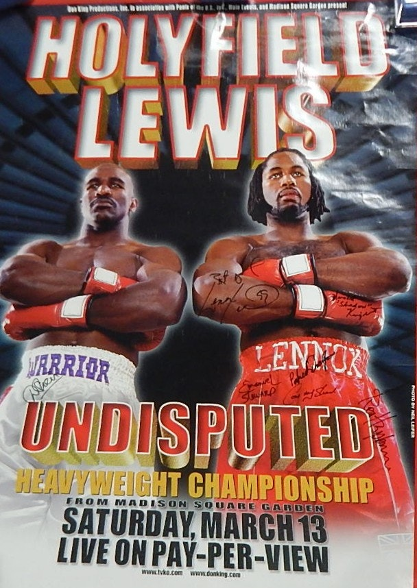 Holyfield vs. Lewis Signed 1999 Fight Poster