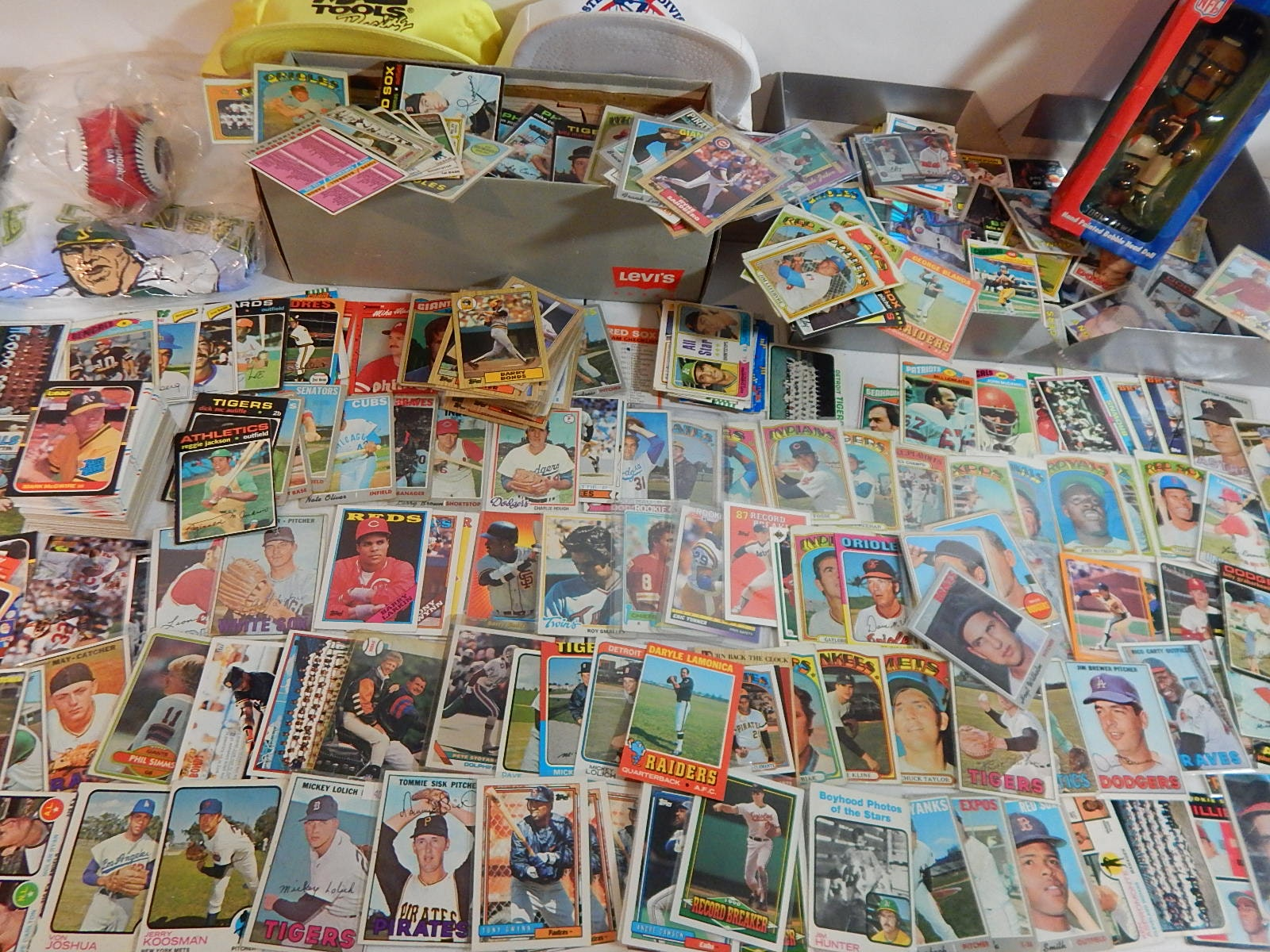 Large Baseball Card Collection with Some Football and Basketball - Over 1000