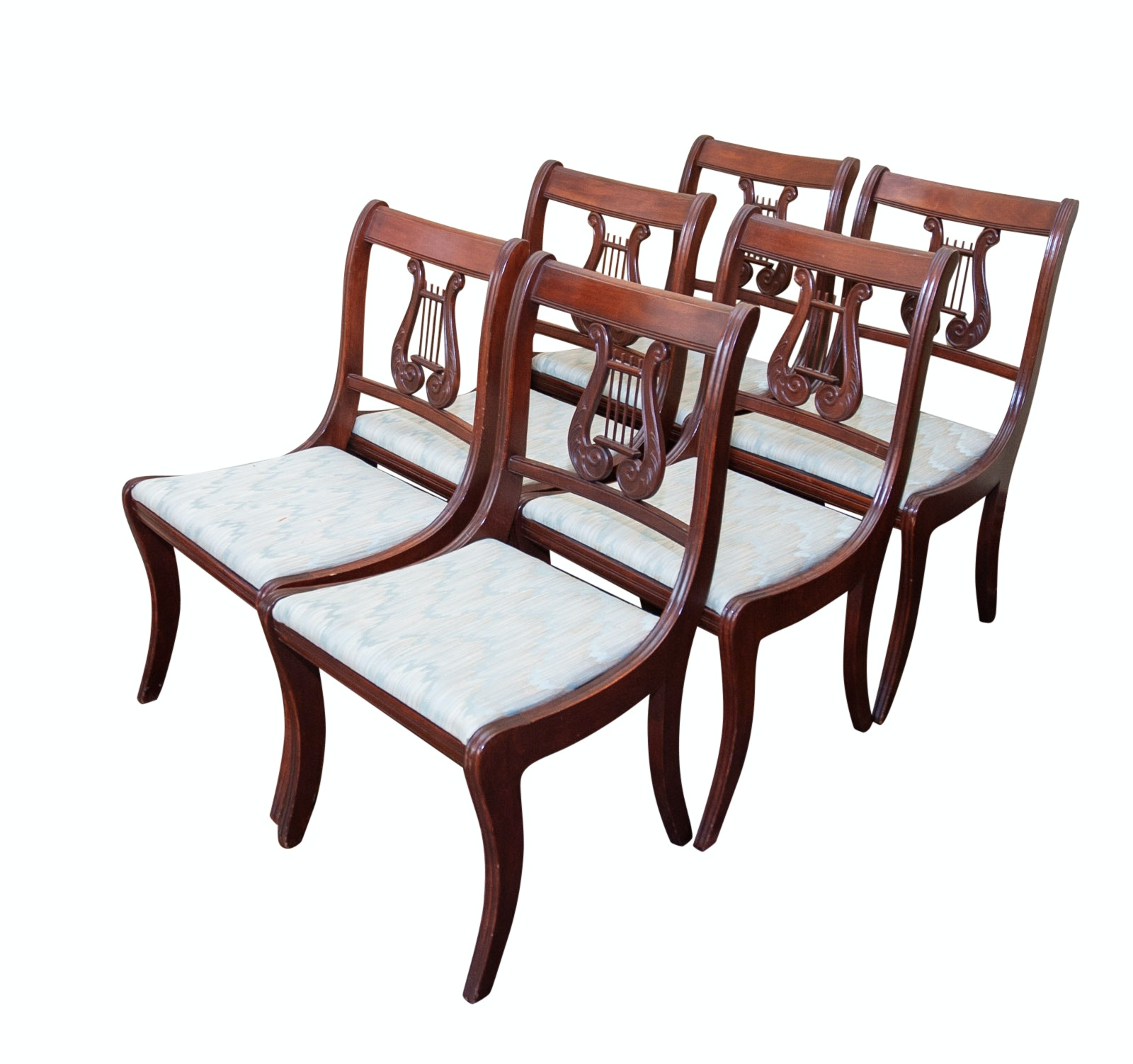 Set of Lyre Back Federal Style Chairs