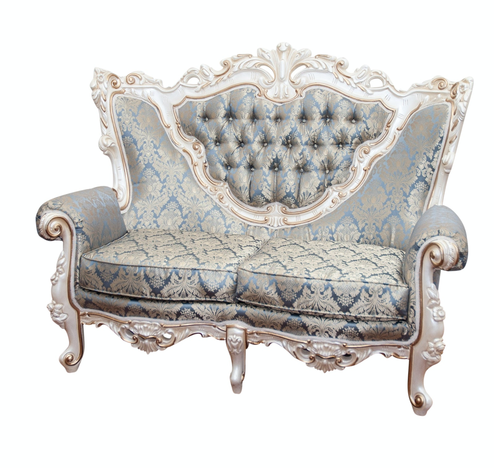 Louis XV Style Button Tufted Loveseat