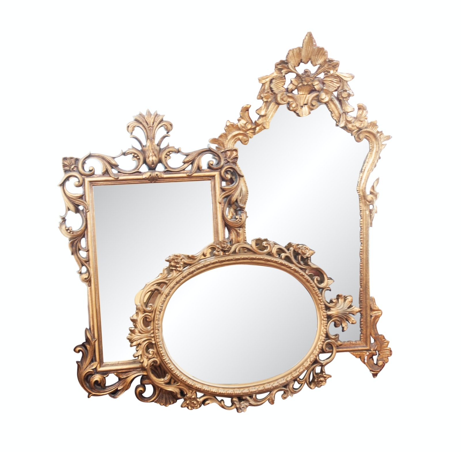 Rococo Revival Style Gilt Wall Mirrors