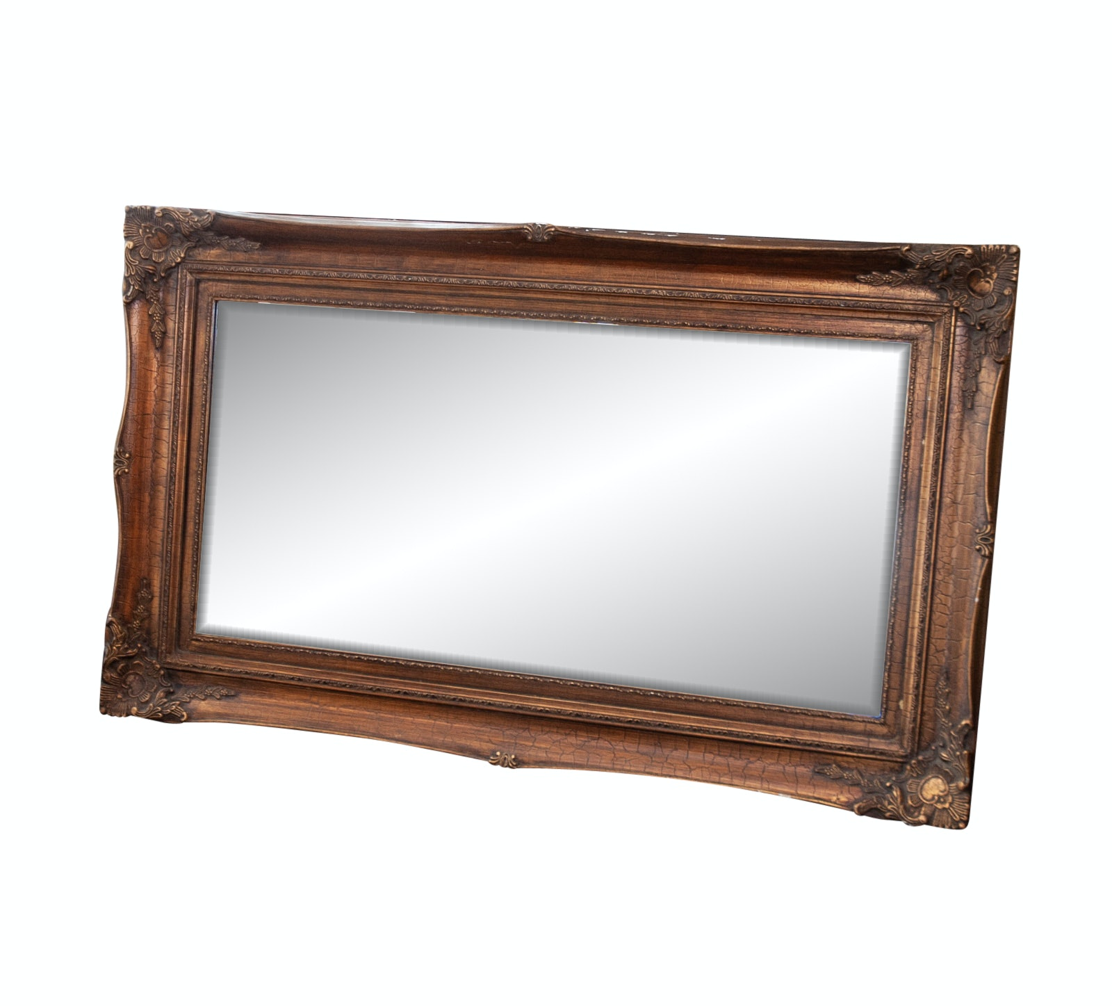 Contemporary Gold Tone Empire Style Wall Mirror