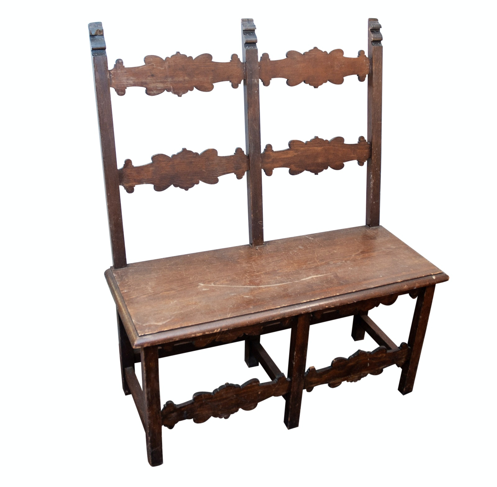 Spanish Baroque Style Wooden Bench