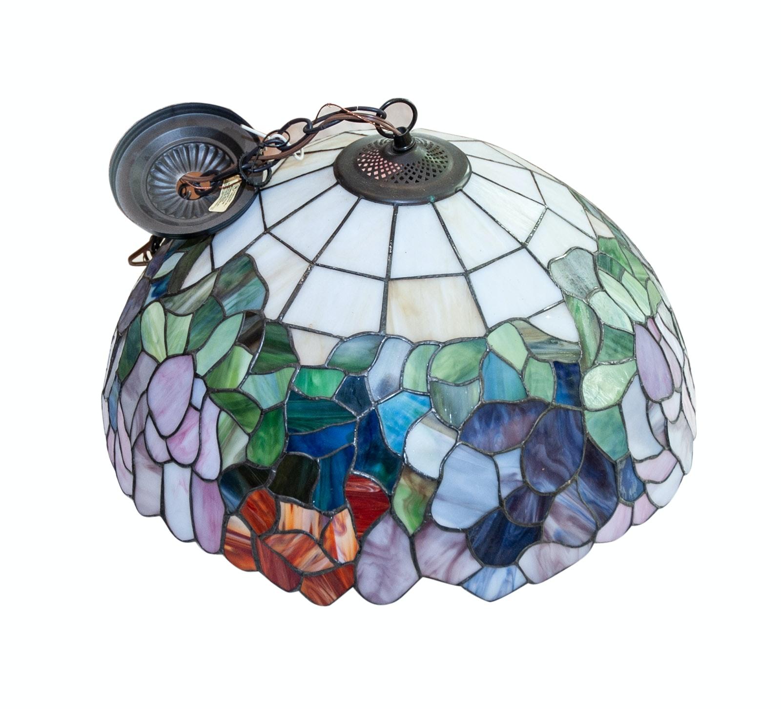 Slag Glass Indoor Pendant Lamp