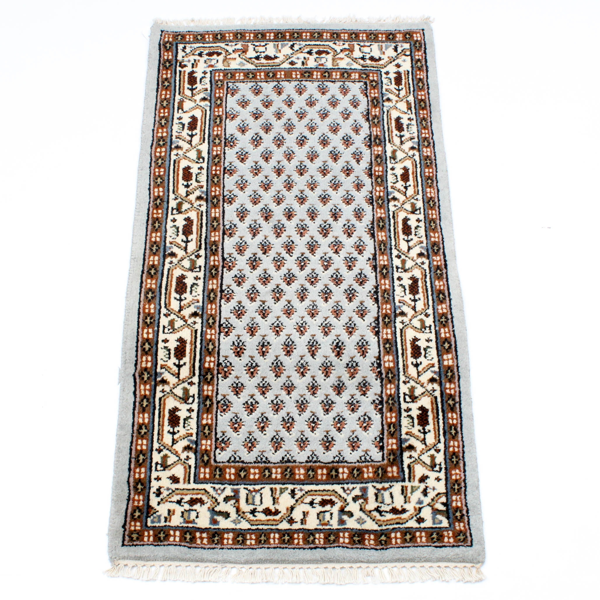 Hand-Knotted Indo-Persian Mir Seraband Rug