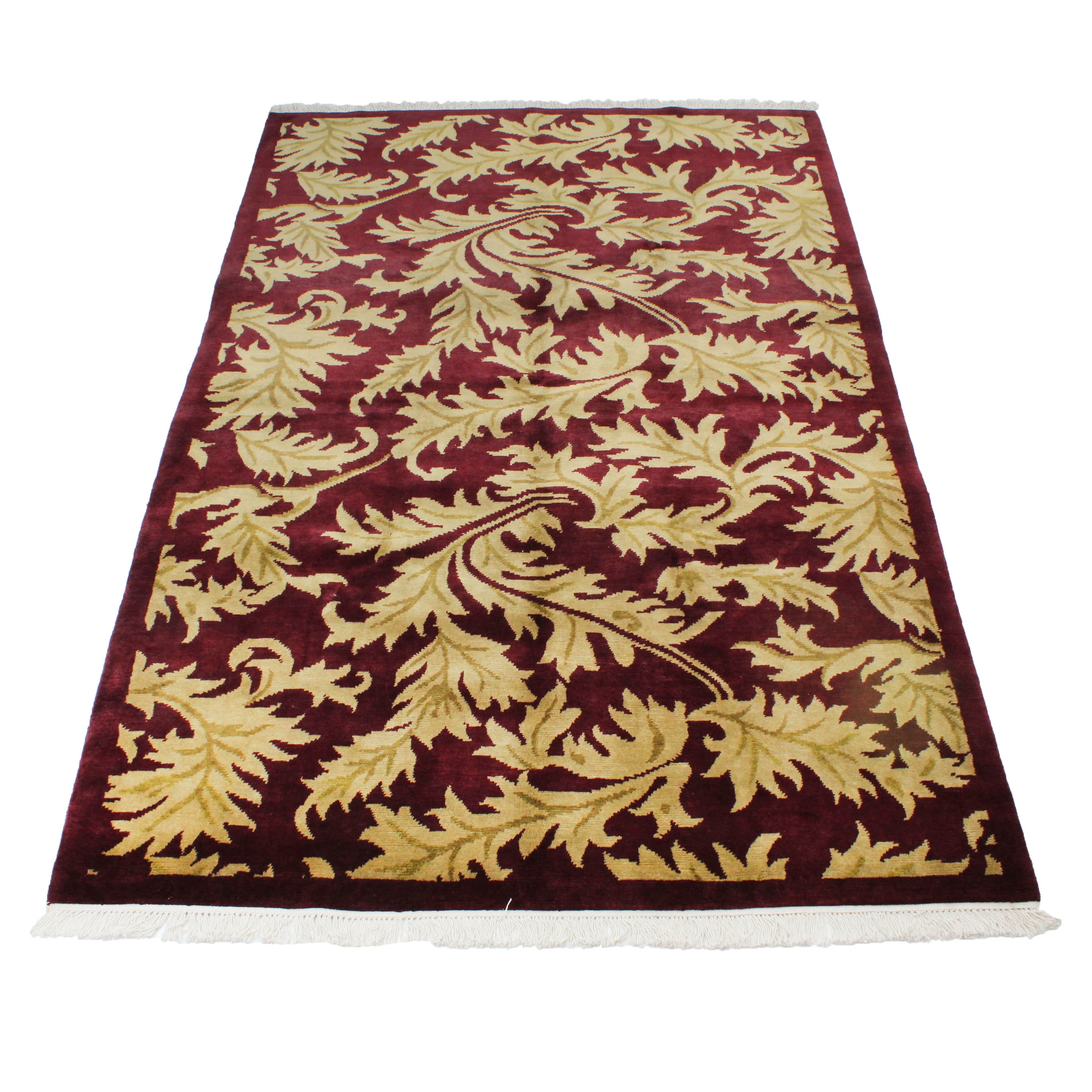 Hand-Knotted Fine Tibetan Turkish Oushak Area Rug