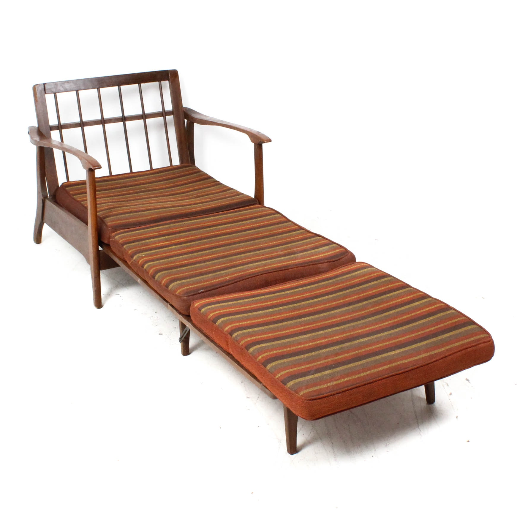 Danish Modern Convertible Teak Lounge Chair