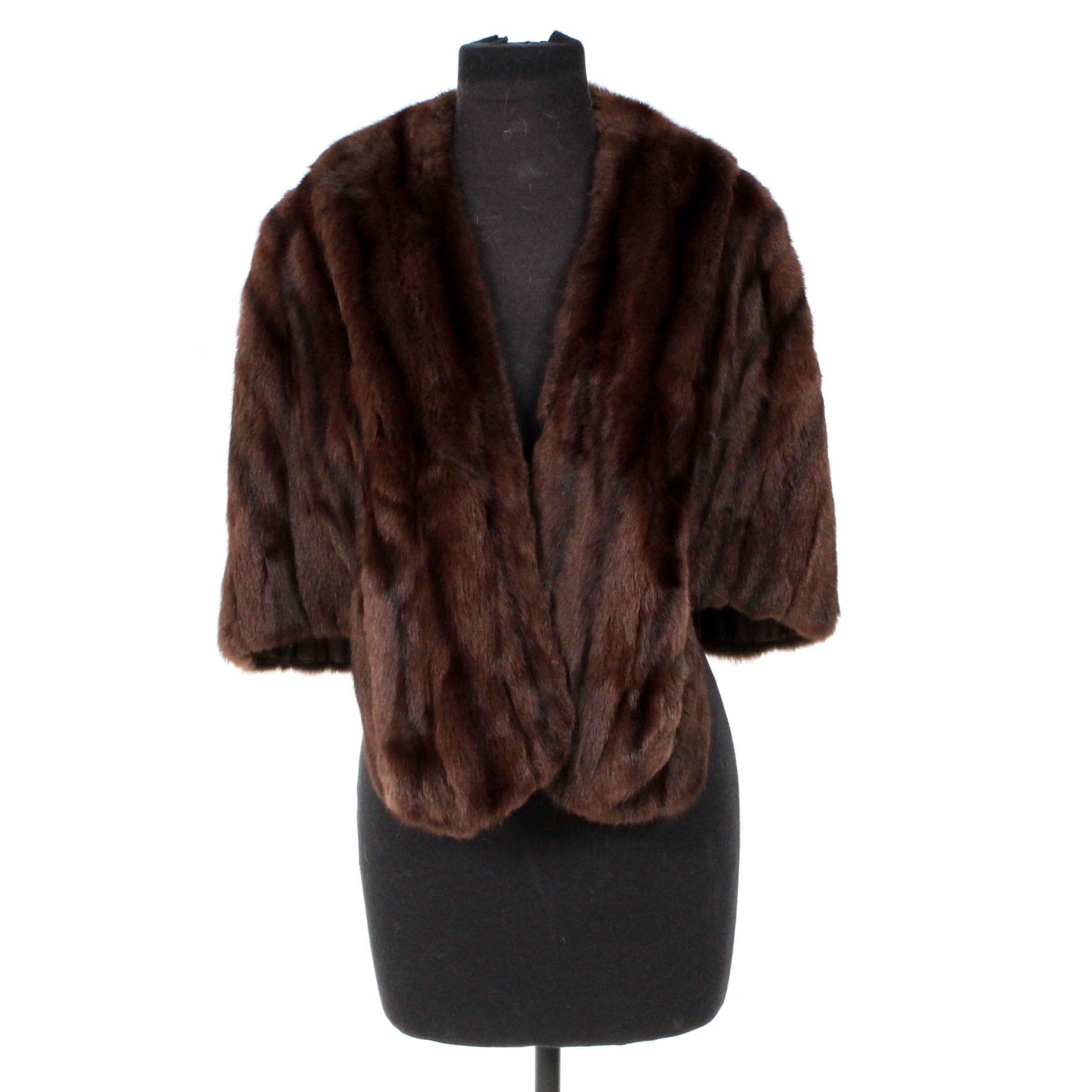 Lazarus Dyed Mahogany Brown Squirrel Fur Stole
