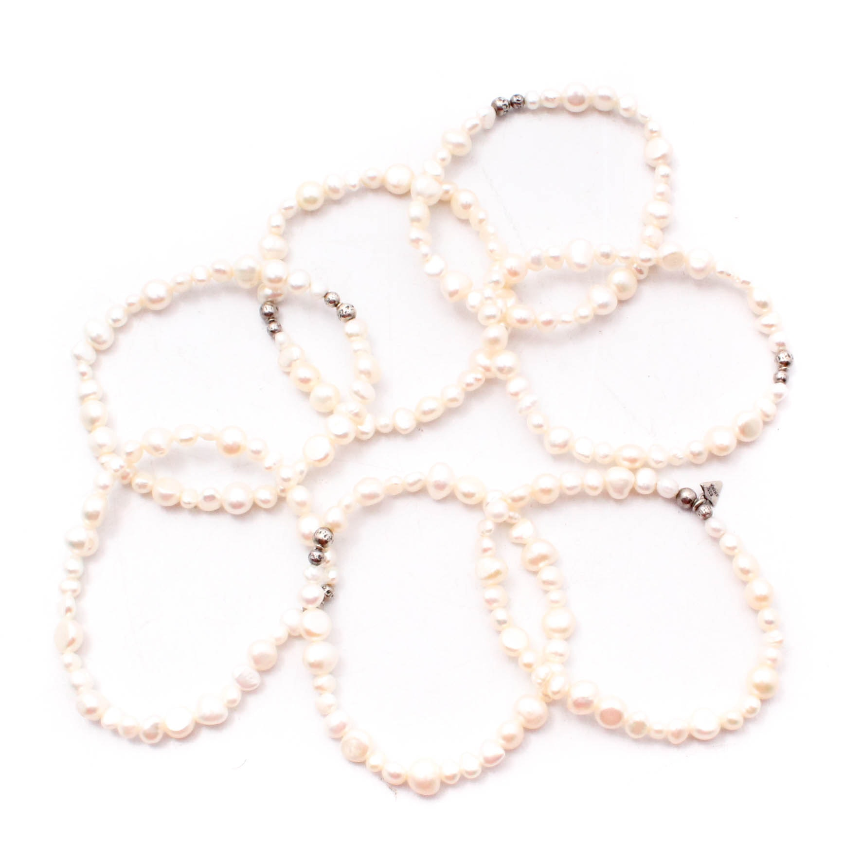 Silpada Sterling Silver Freshwater Cultured Pearl Bracelets