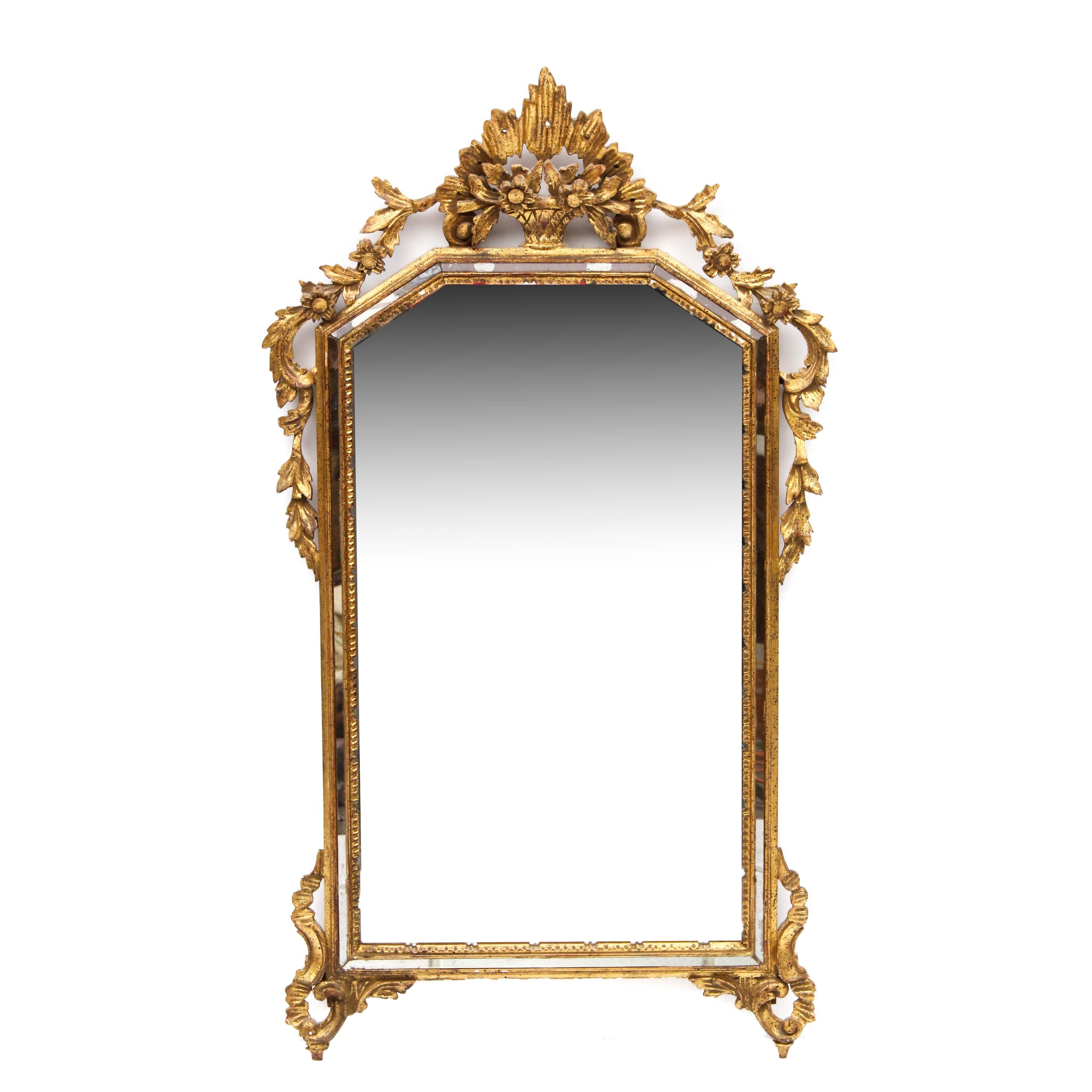 Ornate Gilt Framed Wall Mirror