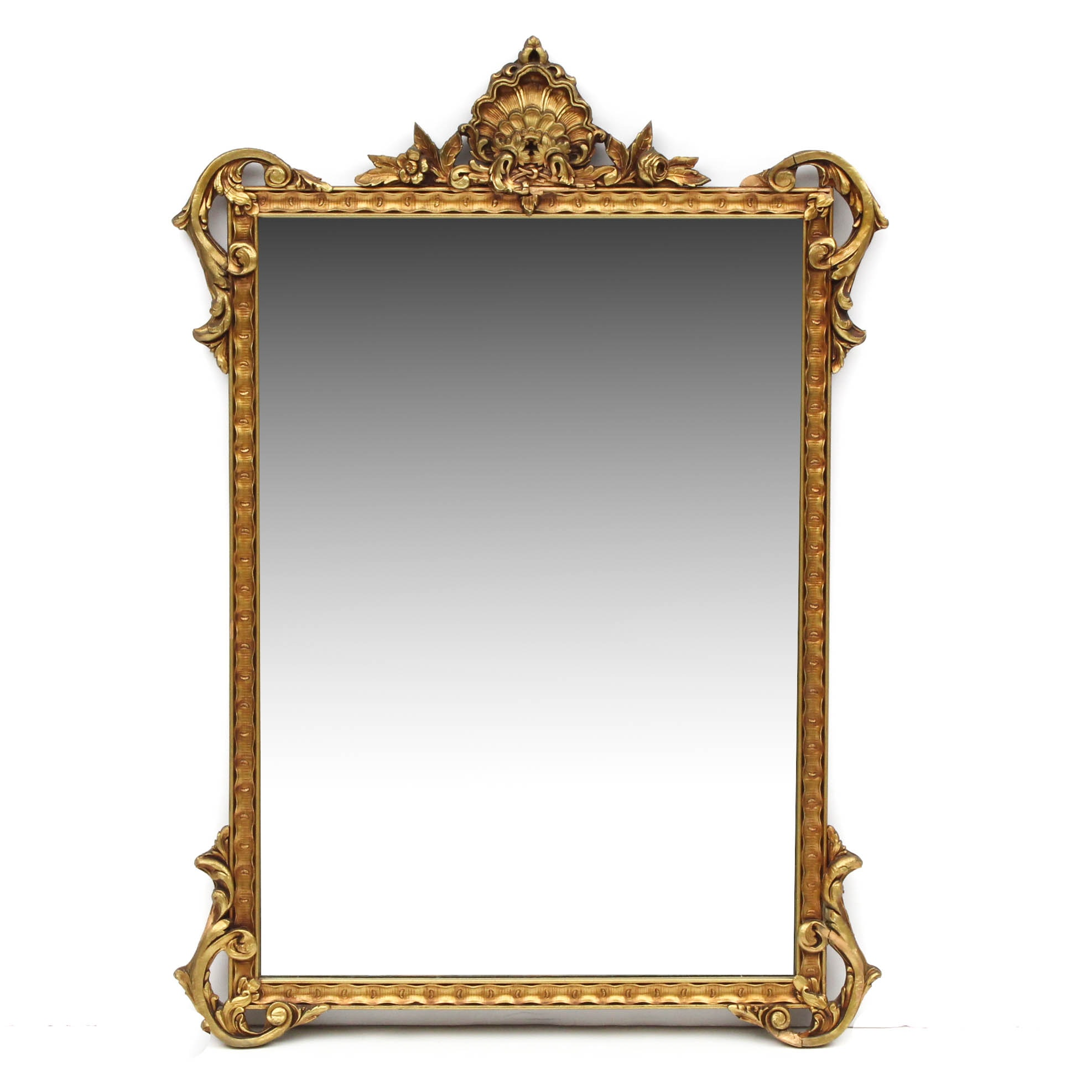 Ornate Wood and Gesso Wall Mirror