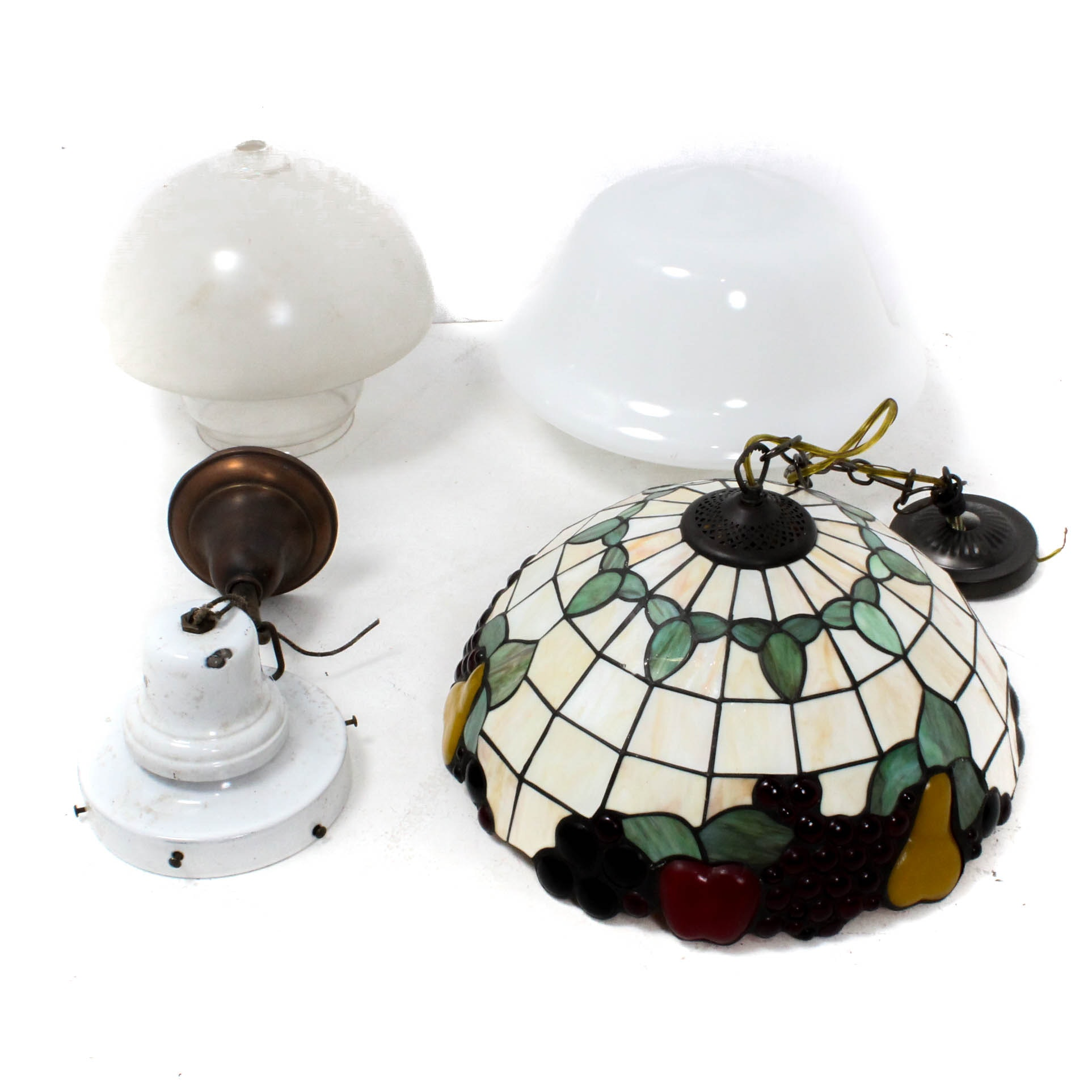 Vintage Glass and Metal Ceiling Lights