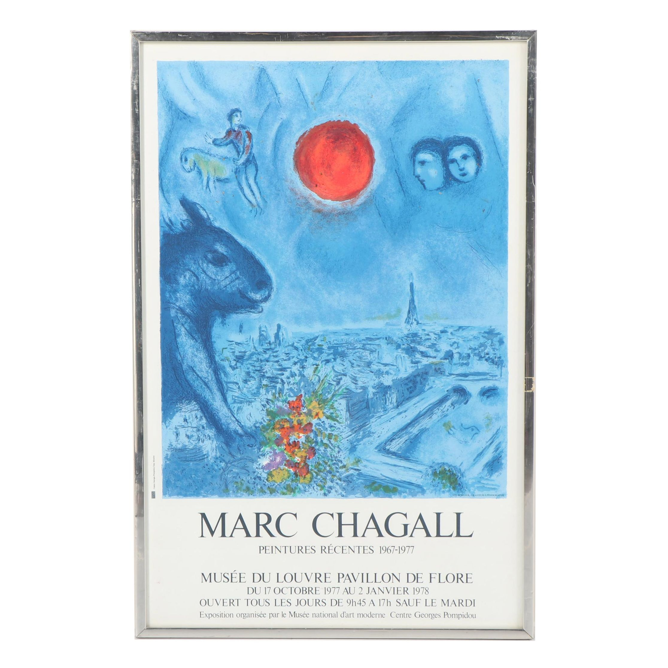Offset Lithograph Poster after Marc Chagall
