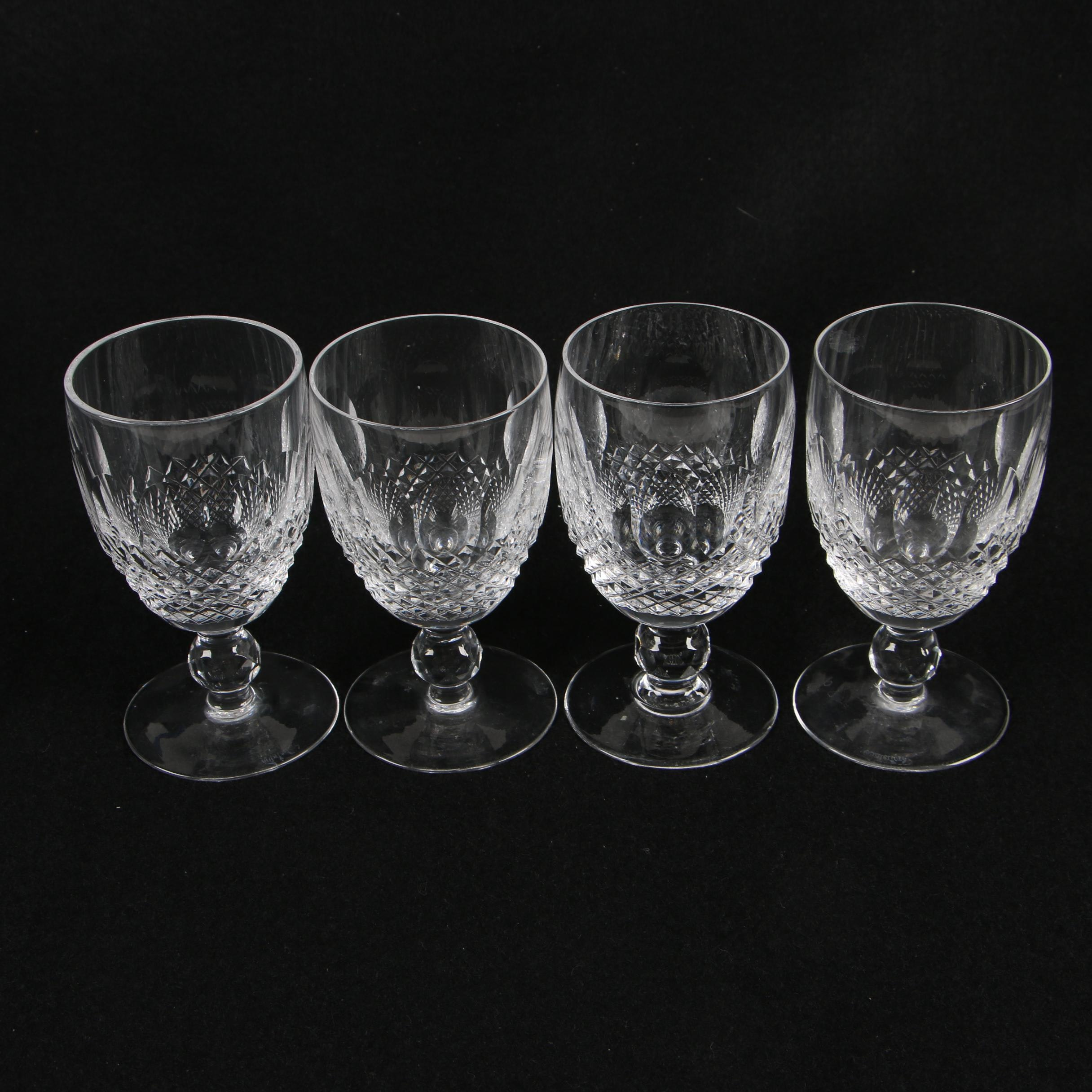 "Waterford Crystal ""Colleen Short Stem"" Claret Wine Glasses"
