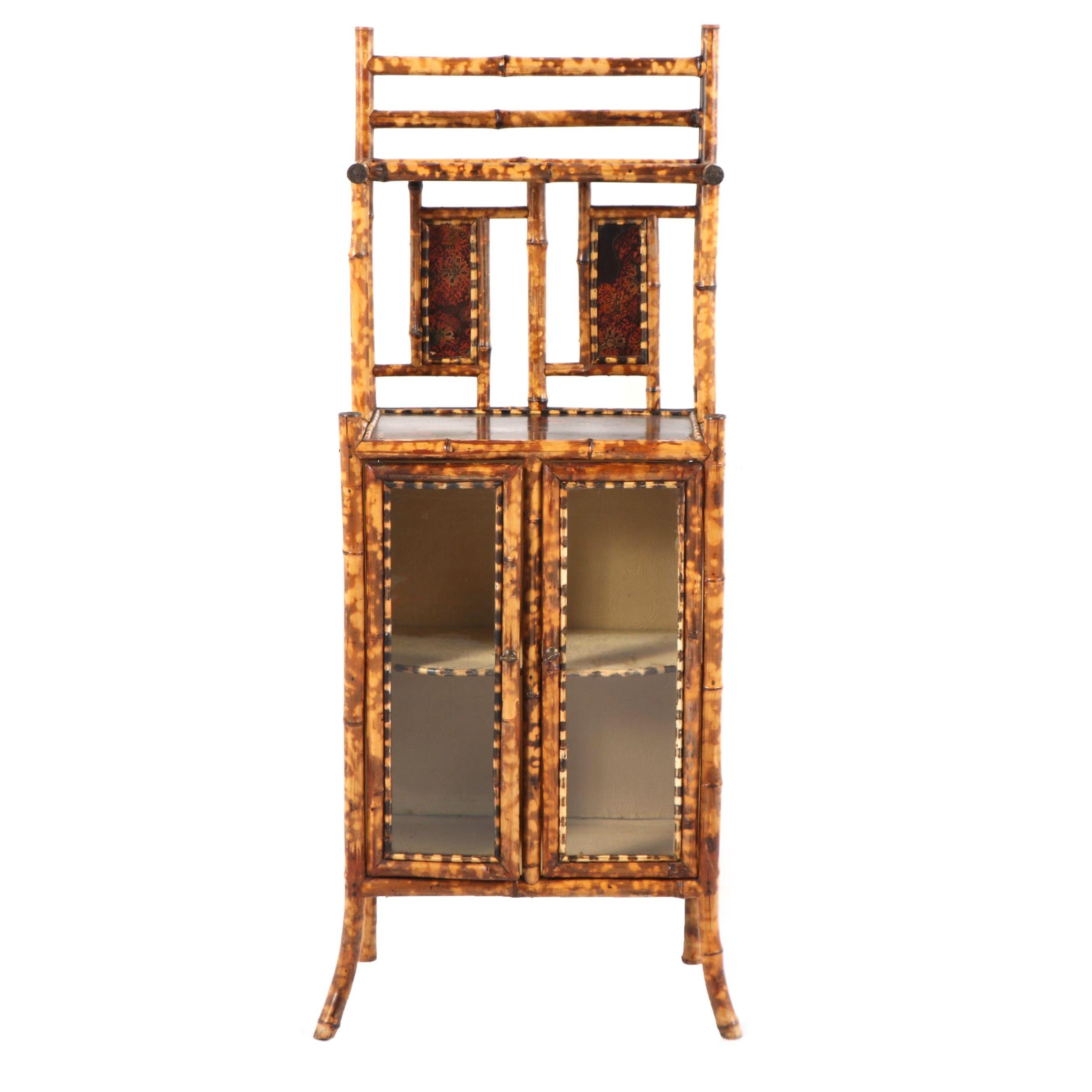 Bamboo Cabinet with Ledge Shelf