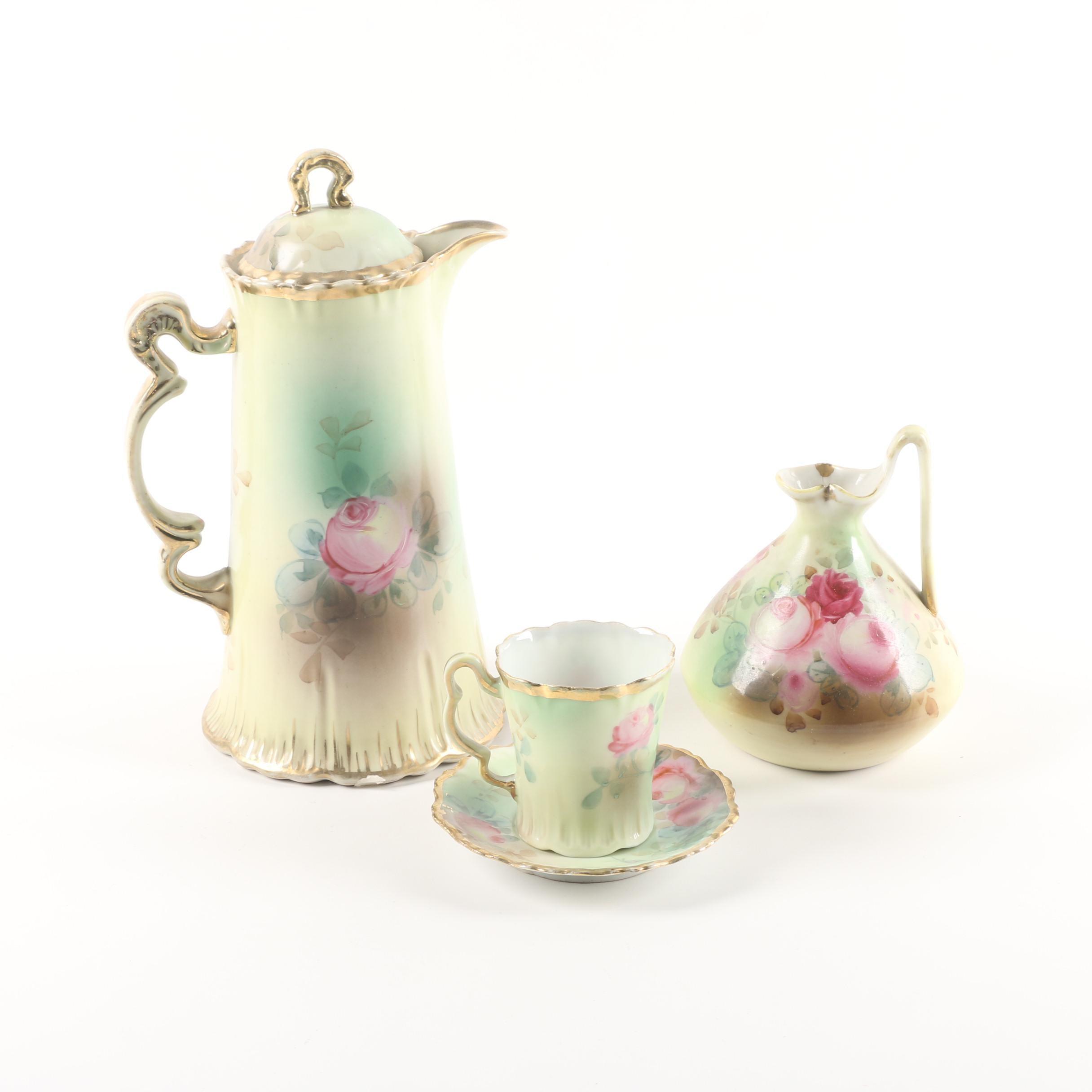 Vintage Hand-Painted Porcelain Serveware ca. 1930s