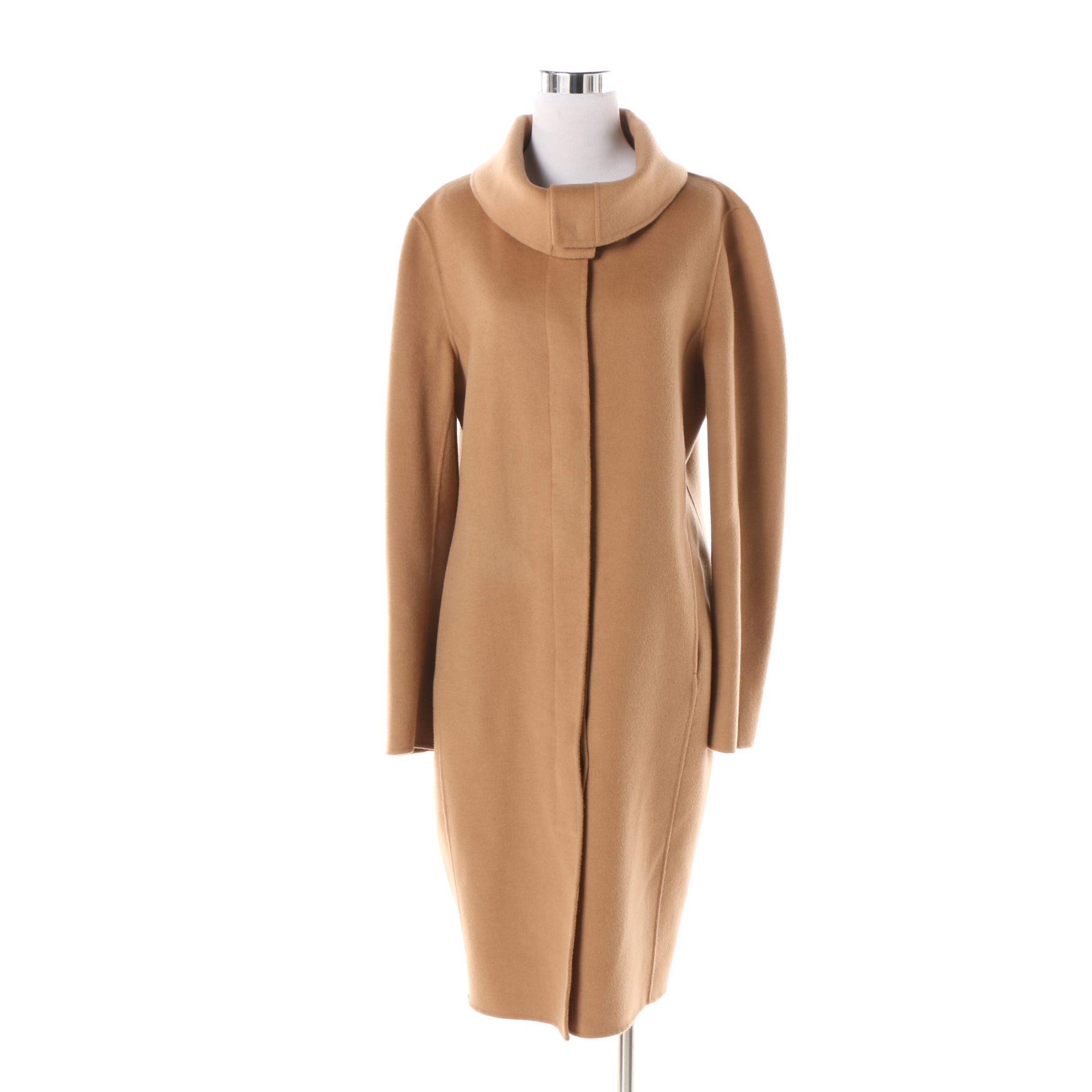 Women's Lafayette 148 New York Wool and Angora Blend Coat